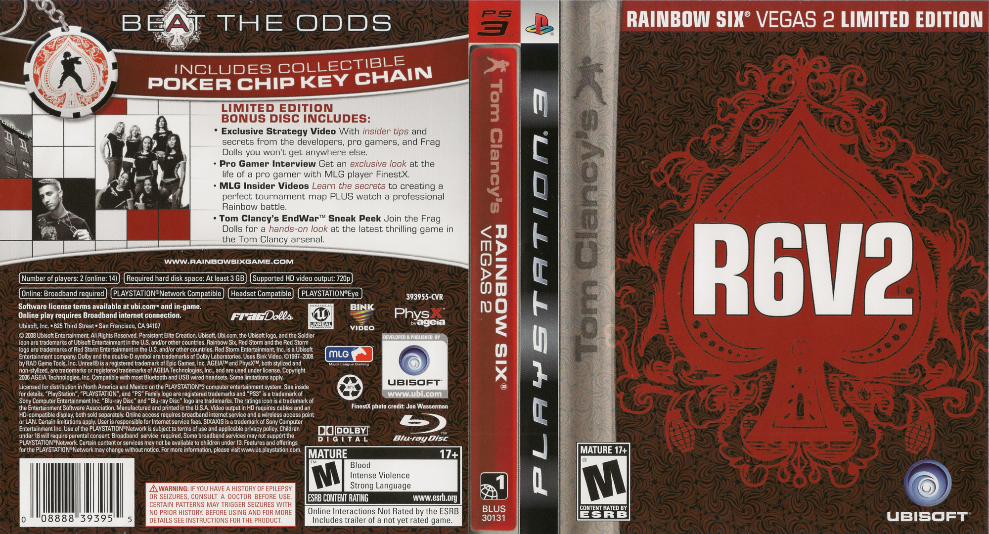 Tom Clancy's Rainbow Six: Vegas 2 (Limited Edition) PS3 coverfullHQ (BLUS30131)