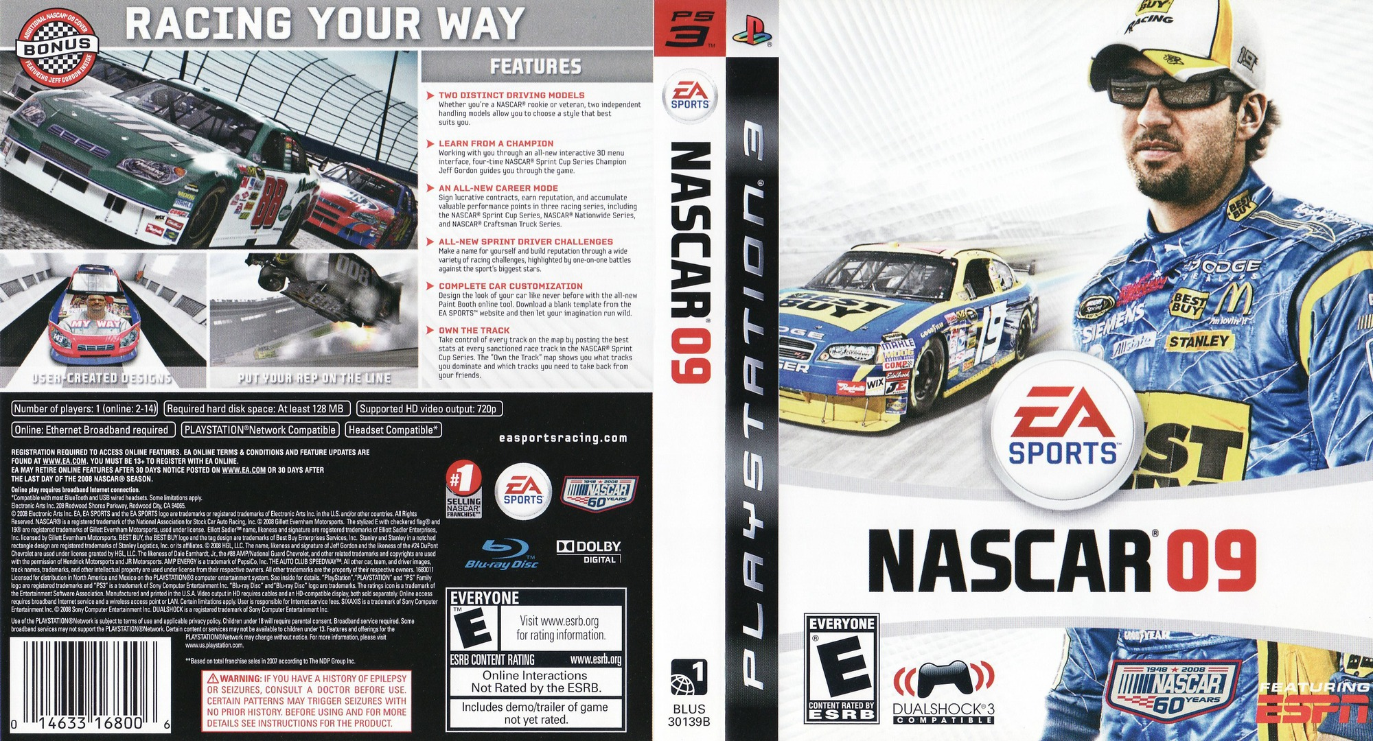 NASCAR '09 PS3 coverfullHQ (BLUS30139)