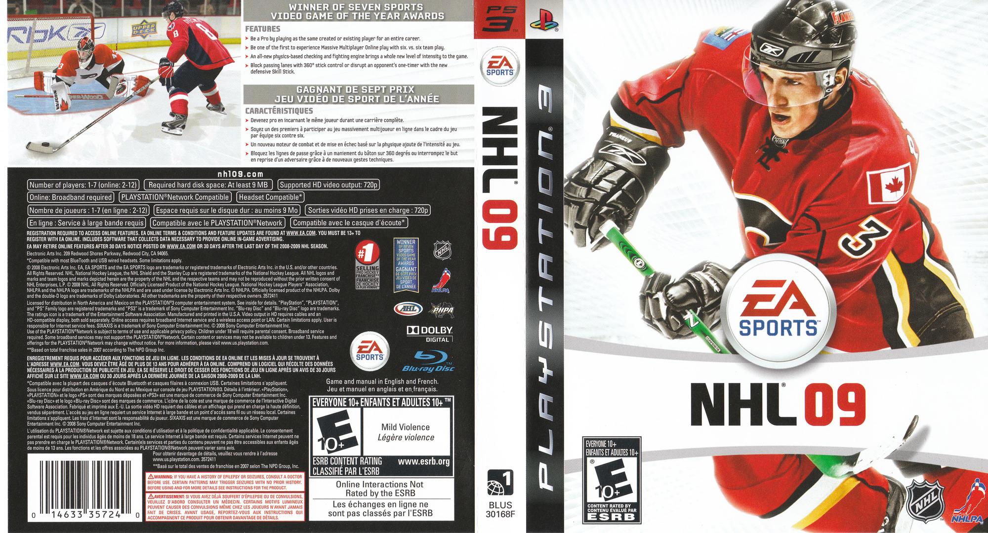 NHL '09 PS3 coverfullHQ (BLUS30168)