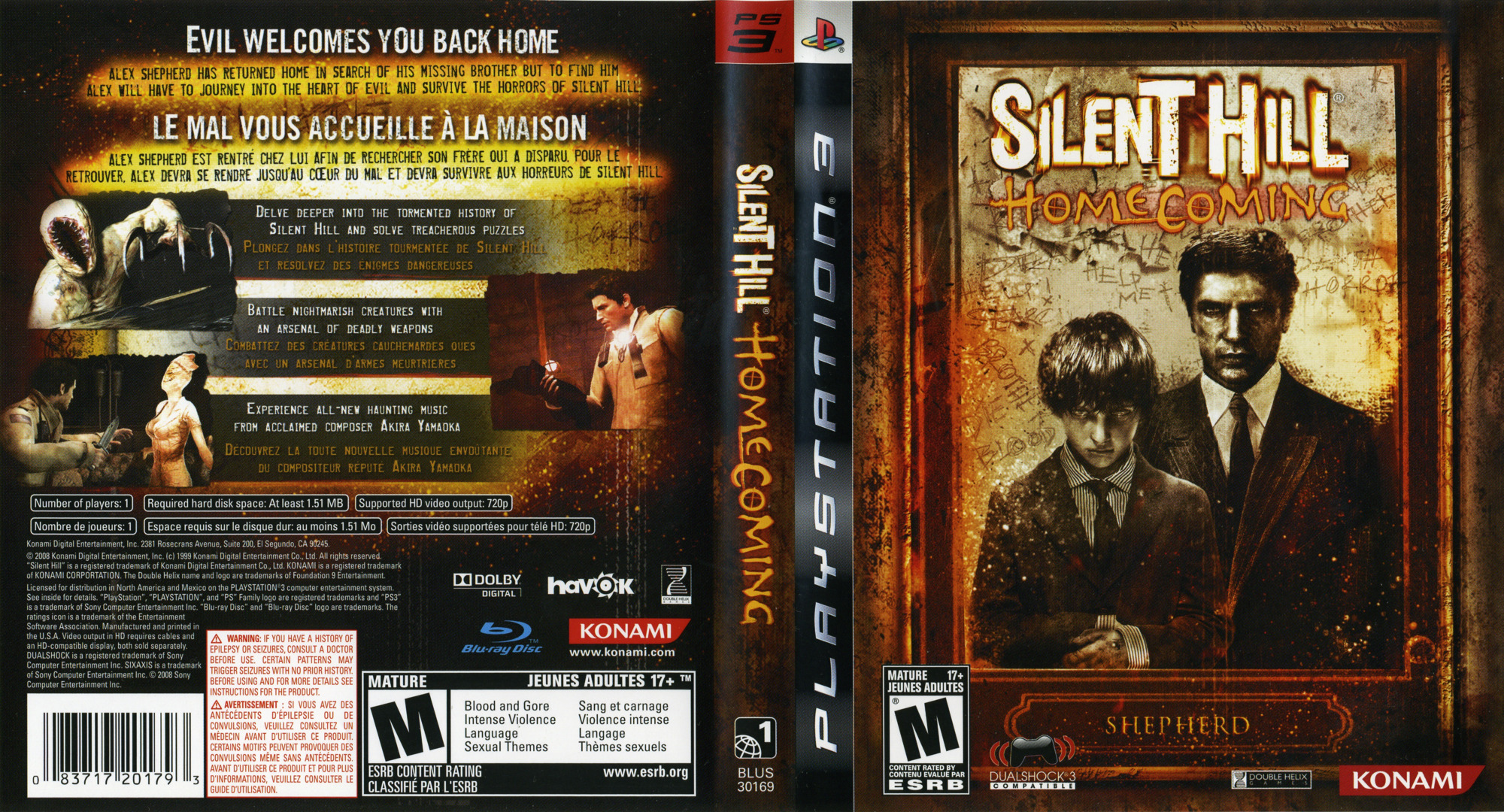 Silent Hill: Homecoming PS3 coverfullHQ (BLUS30169)