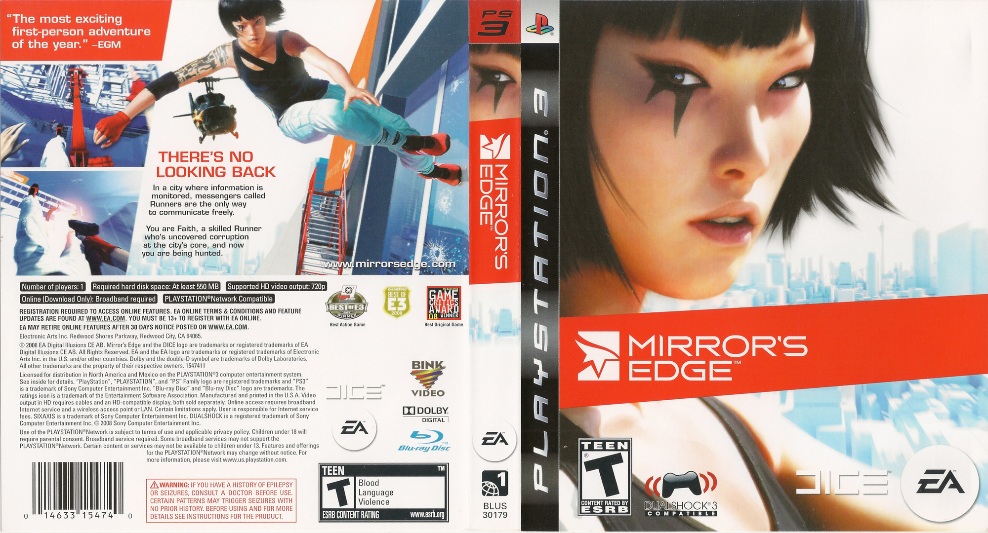 Mirror's Edge PS3 coverfullHQ (BLUS30179)