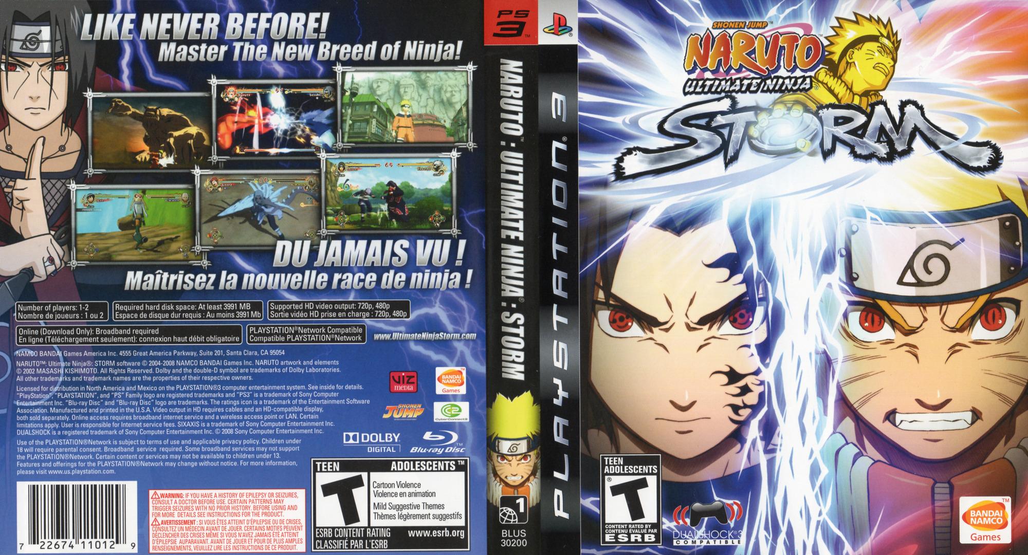 Naruto: Ultimate Ninja Storm PS3 coverfullHQ (BLUS30200)