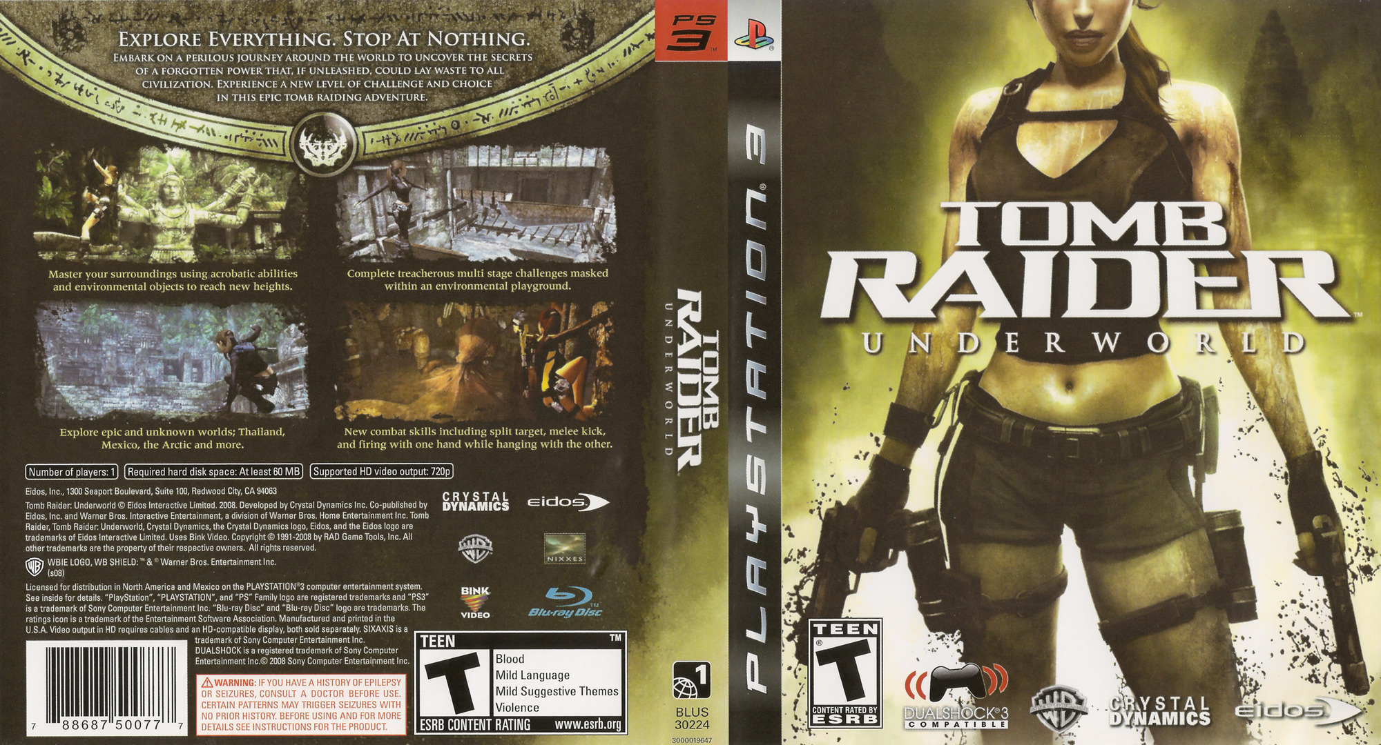 Tomb Raider: Underworld PS3 coverfullHQ (BLUS30224)