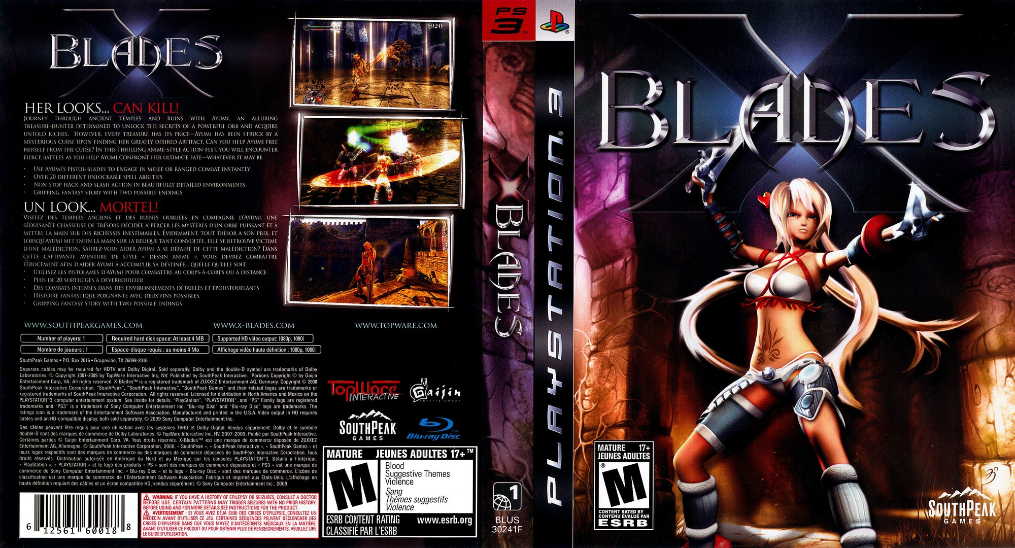 X-Blades PS3 coverfullHQ (BLUS30241)