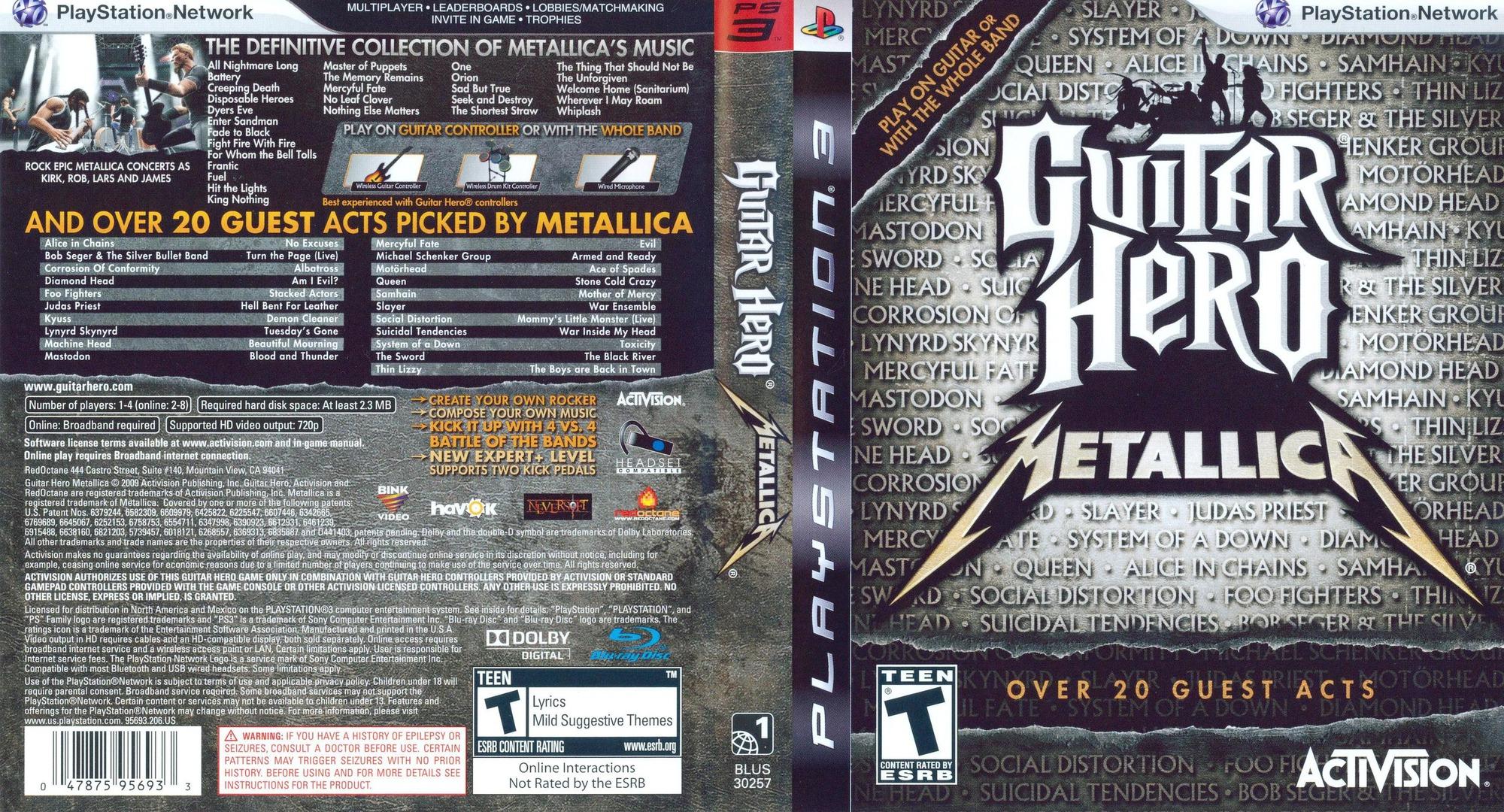 Guitar Hero: Metallica PS3 coverfullHQ (BLUS30257)