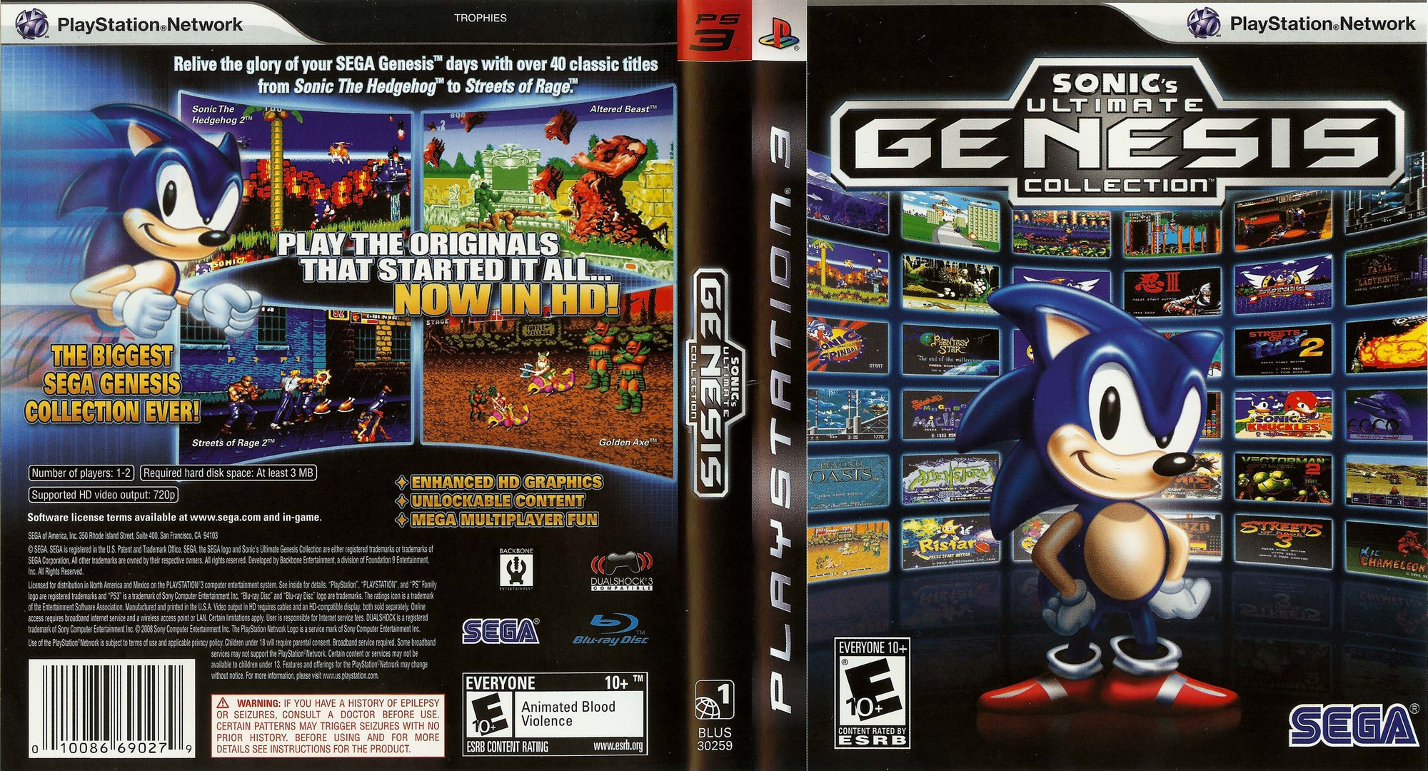 Sonic's Ultimate Genesis Collection PS3 coverfullHQ (BLUS30259)