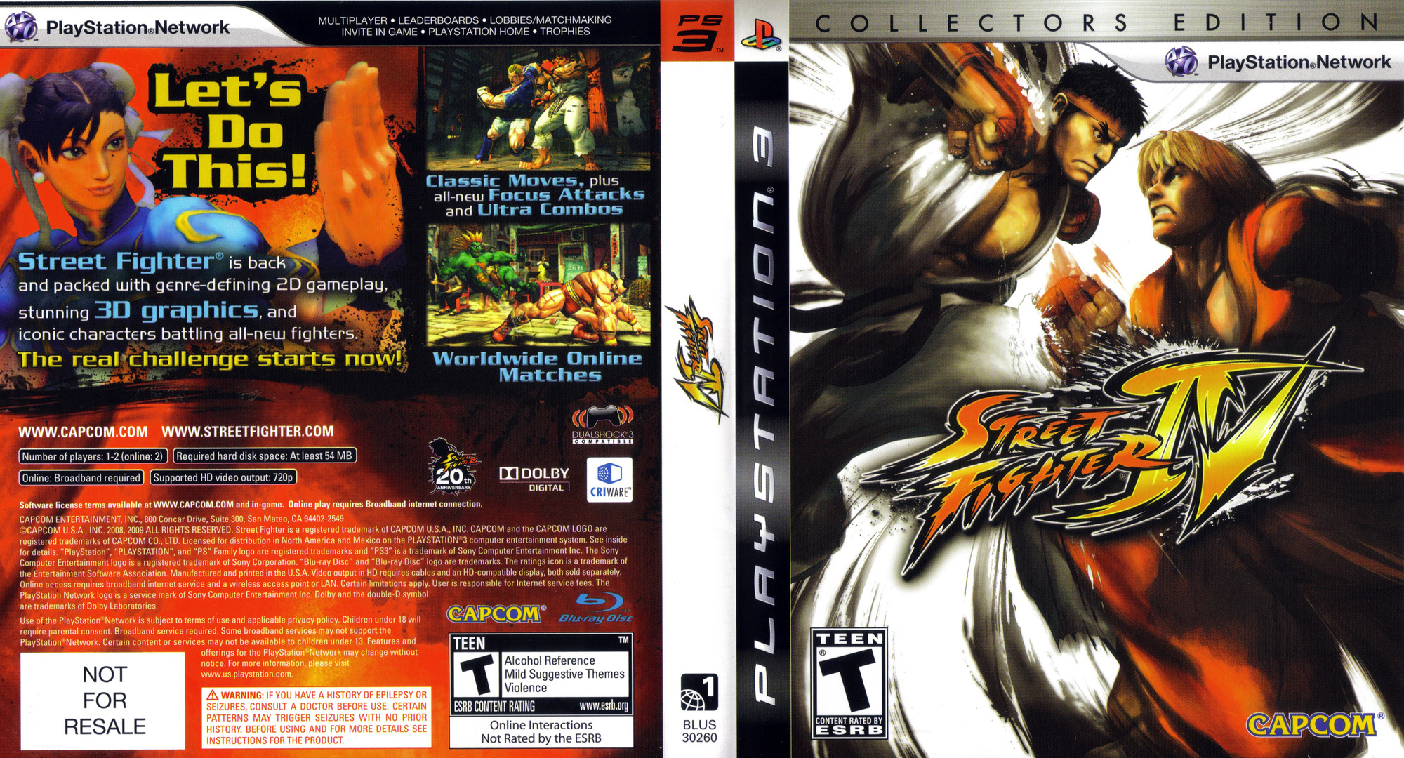 Street Fighter IV (Collector's Edition) PS3 coverfullHQ (BLUS30260)