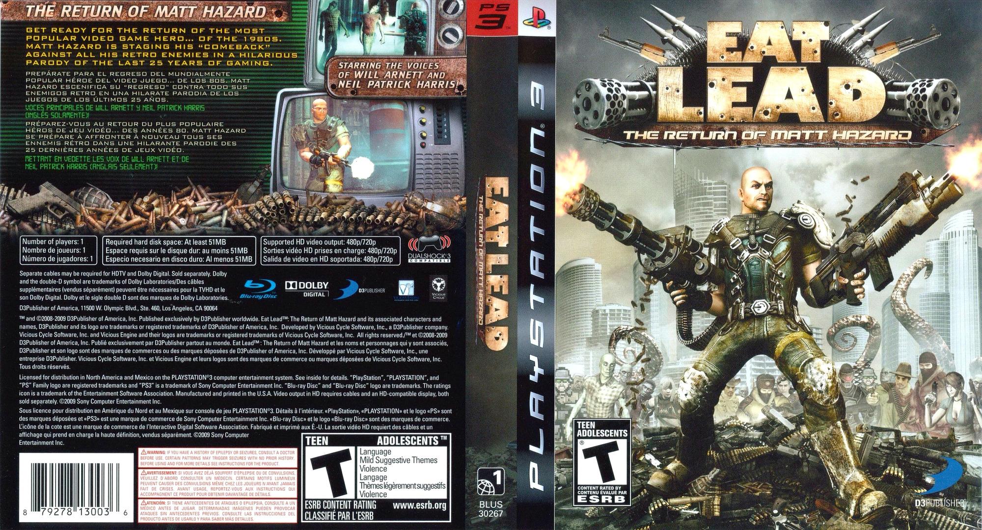 Eat Lead: The Return of Matt Hazard PS3 coverfullHQ (BLUS30267)