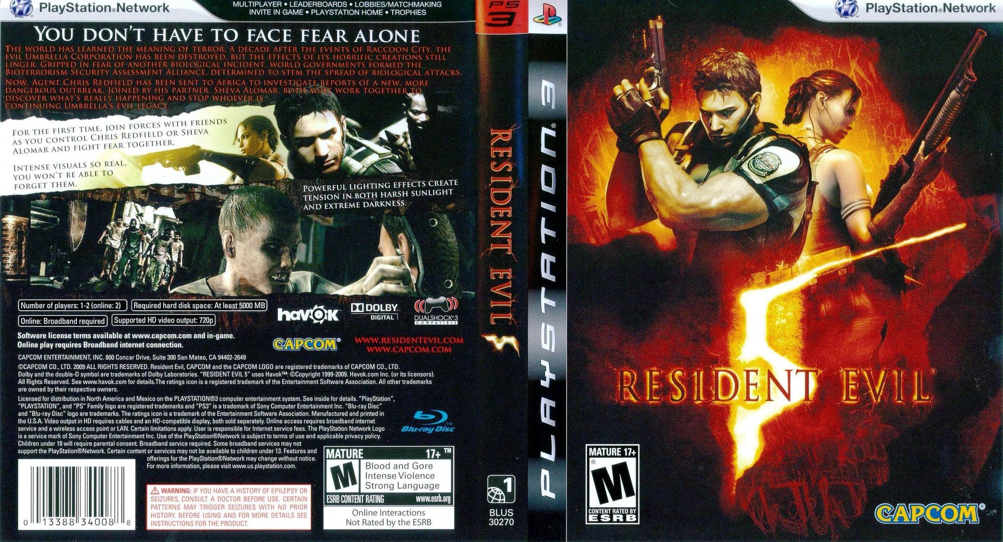 Resident Evil 5 PS3 coverfullHQ (BLUS30270)