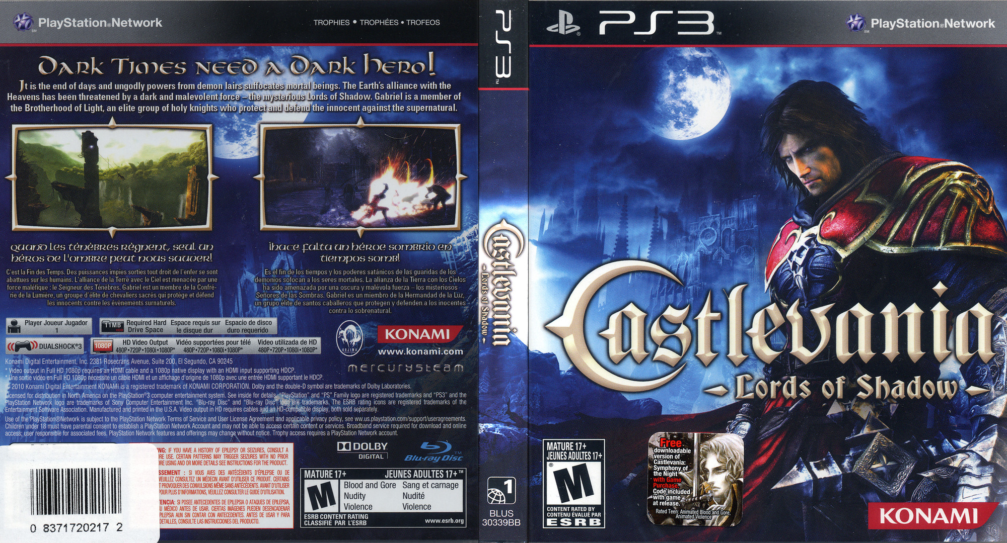 Castlevania: Lords of Shadow PS3 coverfullHQ (BLUS30339)