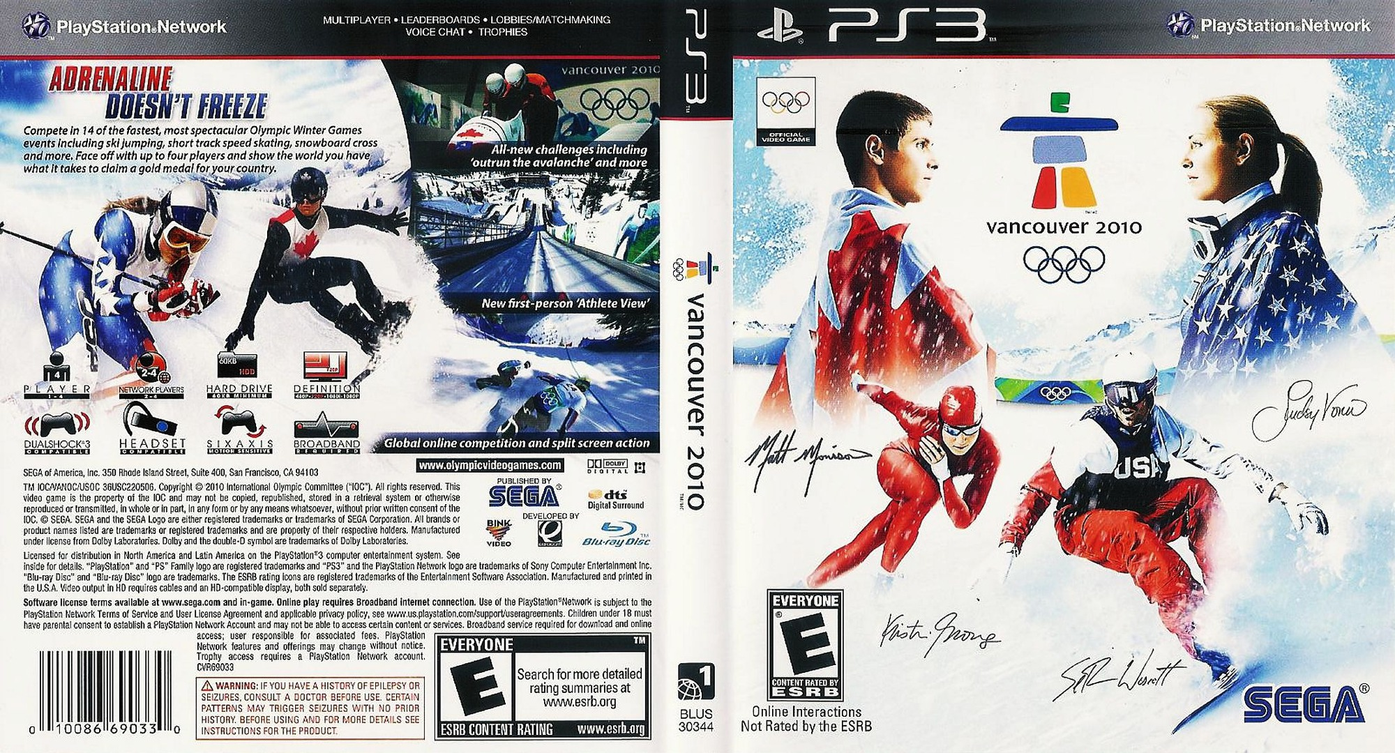 Vancouver 2010: The Official Video Game of the Olympic Games Array coverfullHQ (BLUS30344)