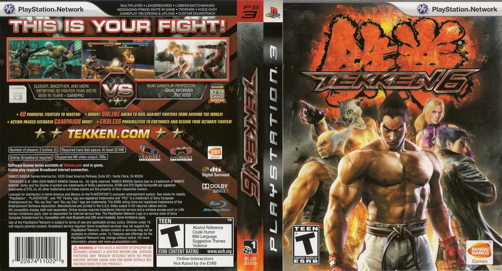 Tekken 6 Array coverfullHQ (BLUS30359)