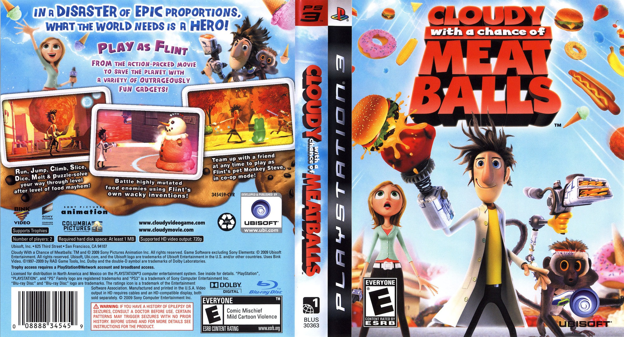 Cloudy with a Chance of Meatballs PS3 coverfullHQ (BLUS30363)