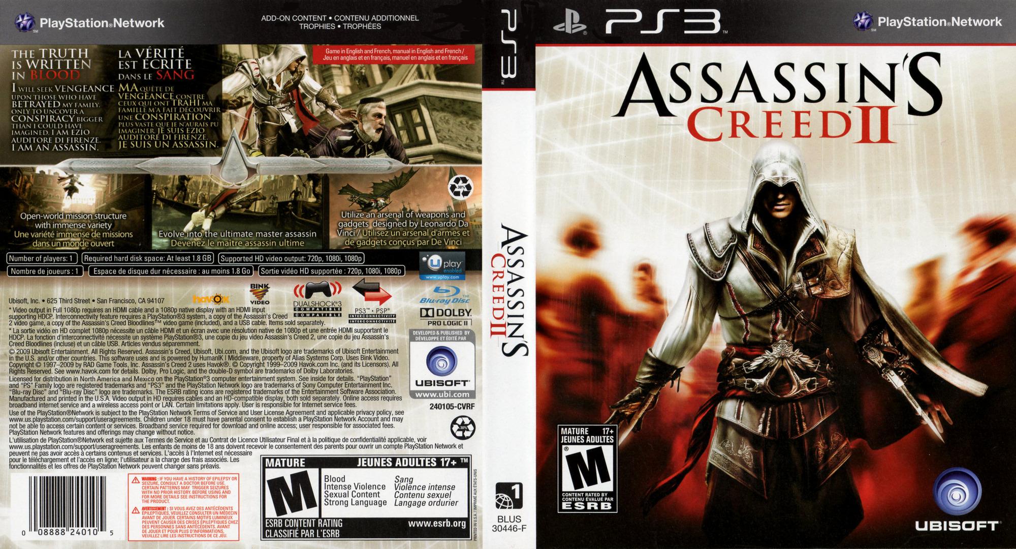 Assassin's Creed II PS3 coverfullHQ (BLUS30364)