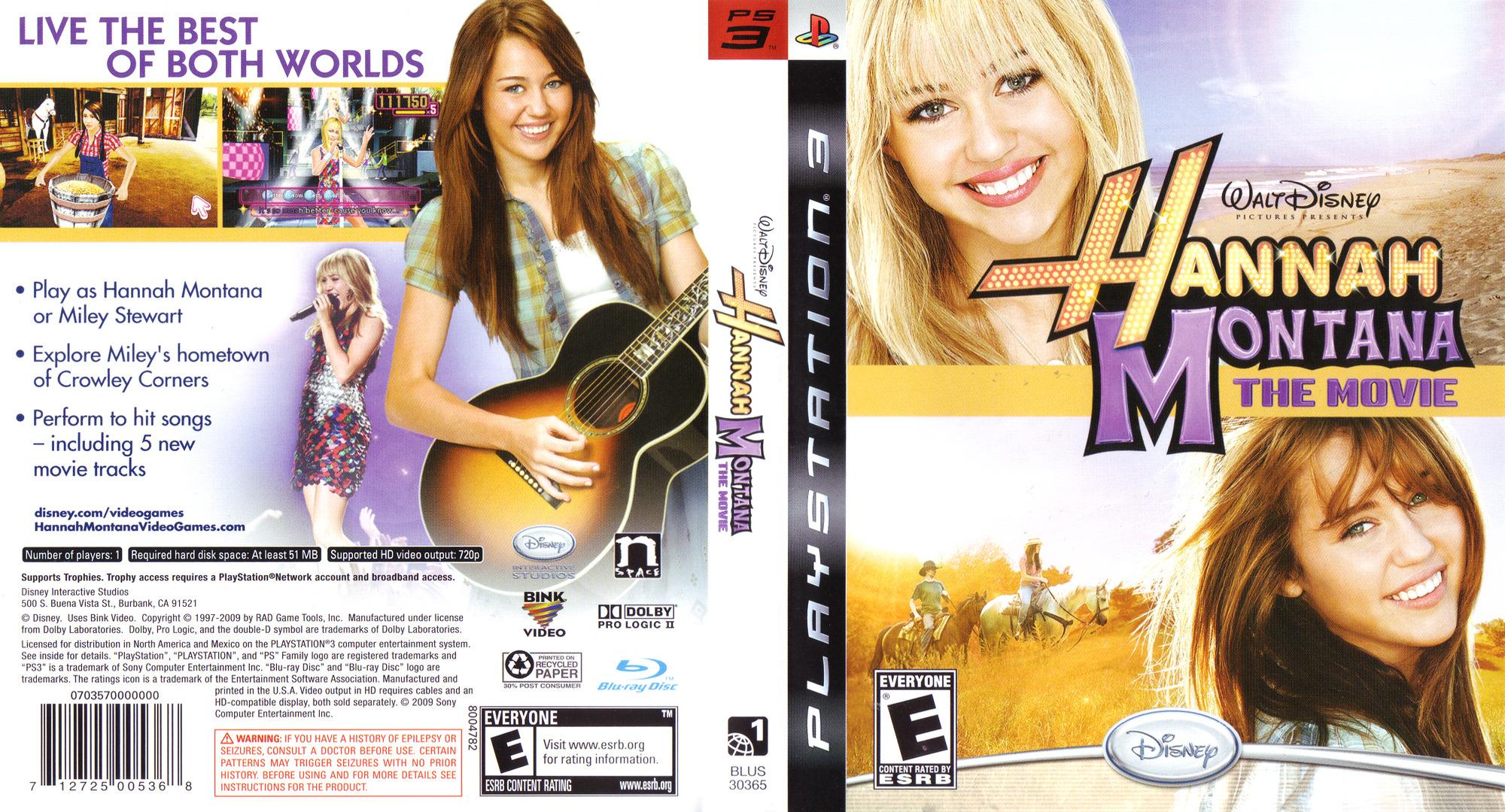 Hannah Montana: The Movie PS3 coverfullHQ (BLUS30365)