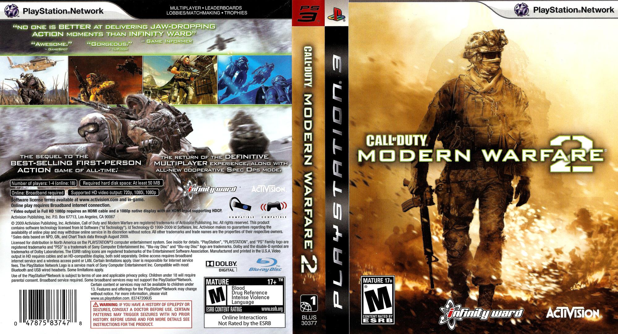 Call of Duty: Modern Warfare 2 PS3 coverfullHQ (BLUS30377)