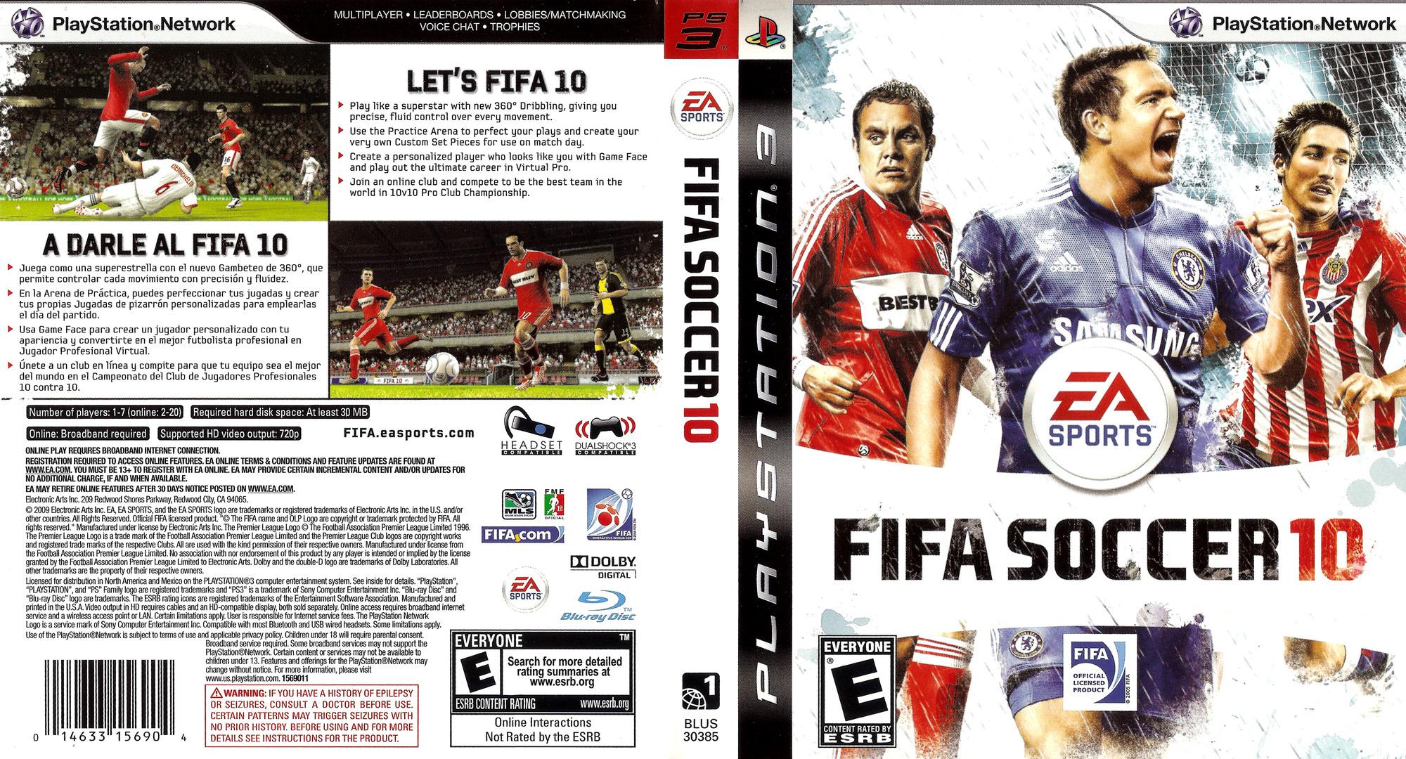 FIFA Soccer '10 PS3 coverfullHQ (BLUS30385)