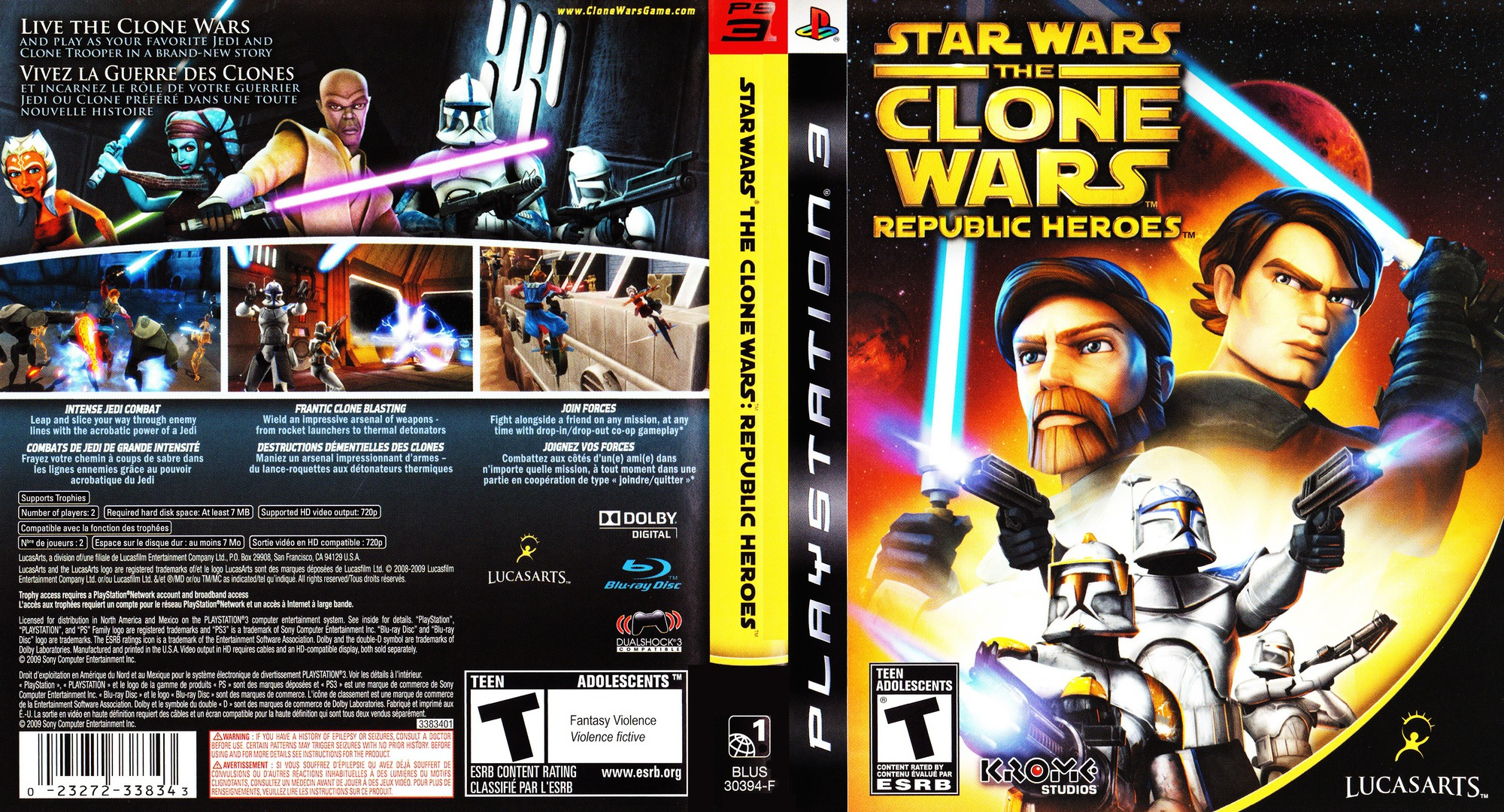 Star Wars The Clone Wars: Republic Heroes PS3 coverfullHQ (BLUS30394)