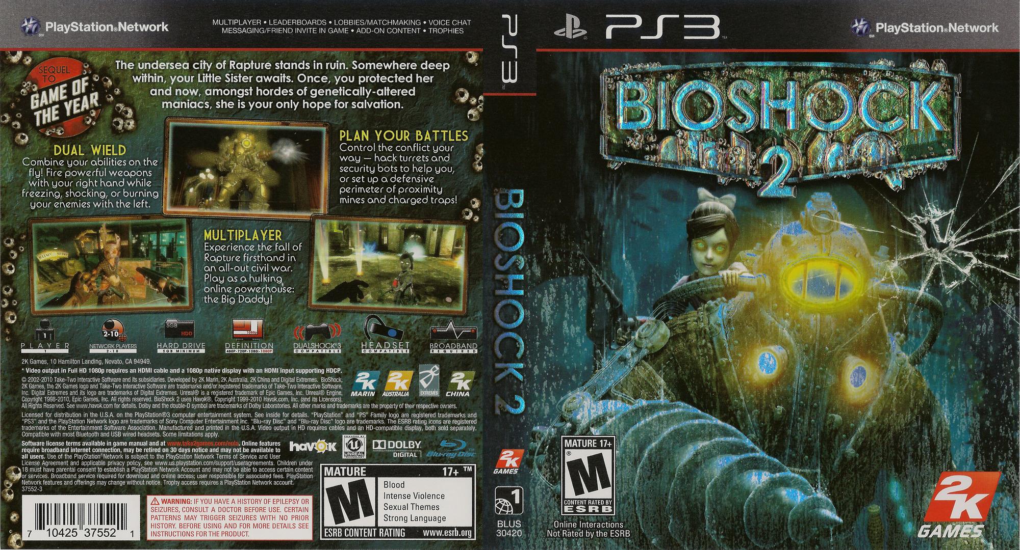 BioShock 2 PS3 coverfullHQ (BLUS30420)