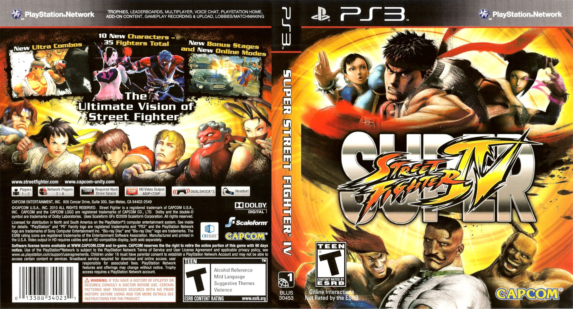 Super Street Fighter IV PS3 coverfullHQ (BLUS30453)