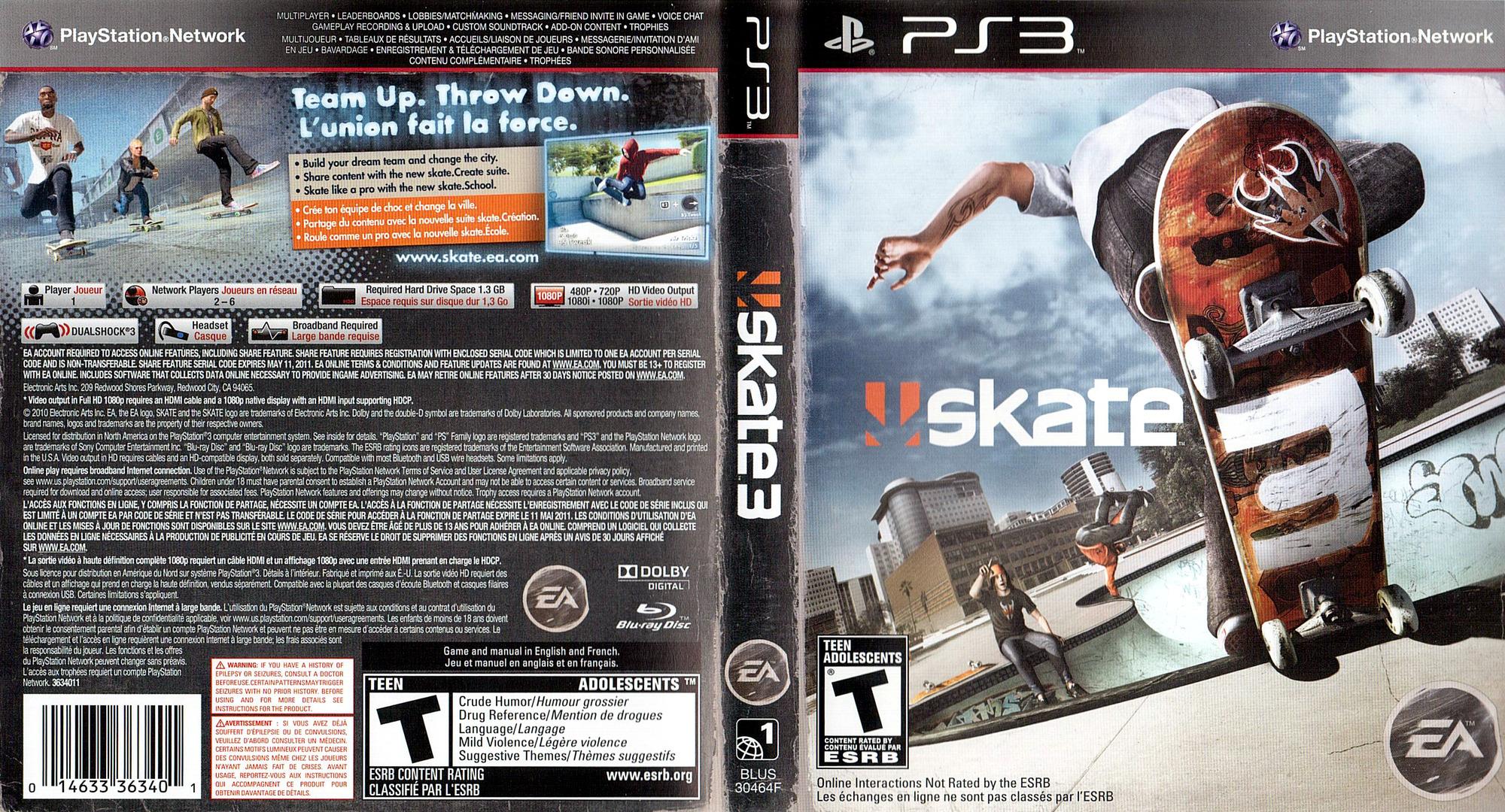 Skate 3 PS3 coverfullHQ (BLUS30464)