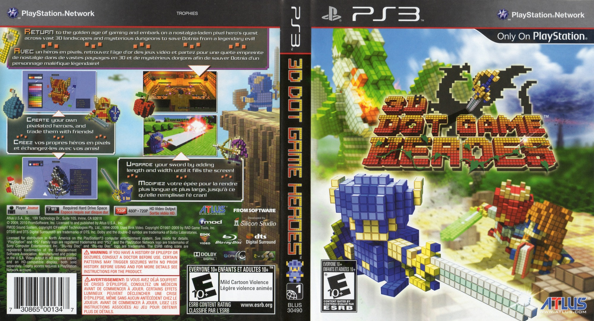 3D Dot Game Heroes PS3 coverfullHQ (BLUS30490)