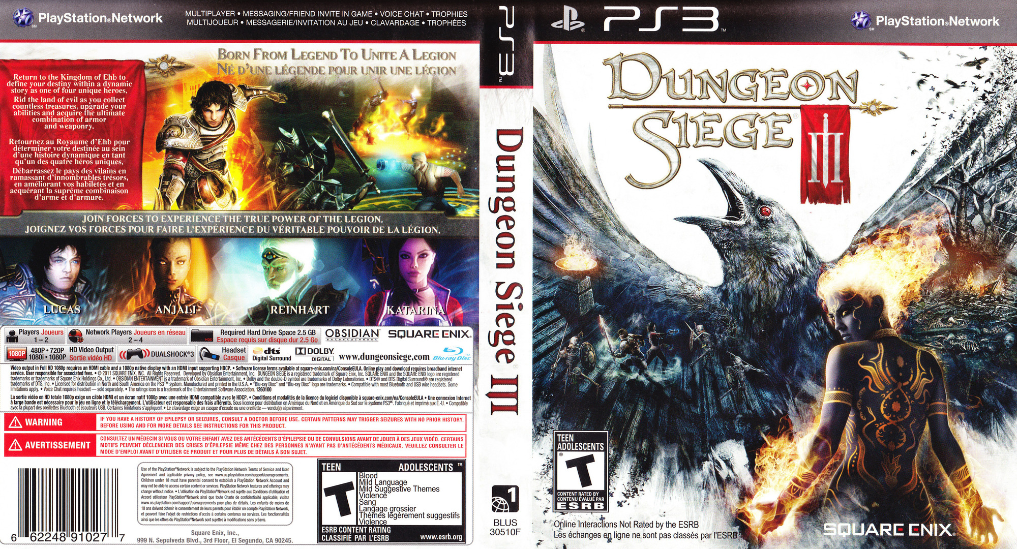 Dungeon Siege III PS3 coverfullHQ (BLUS30510)