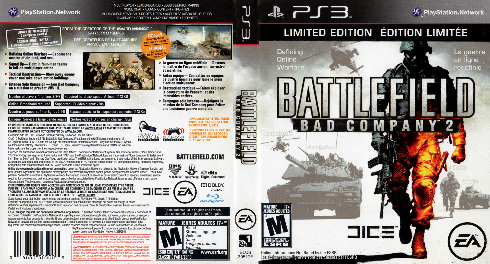 Battlefield: Bad Company 2 Limited Edition PS3 coverfullHQ (BLUS30517)
