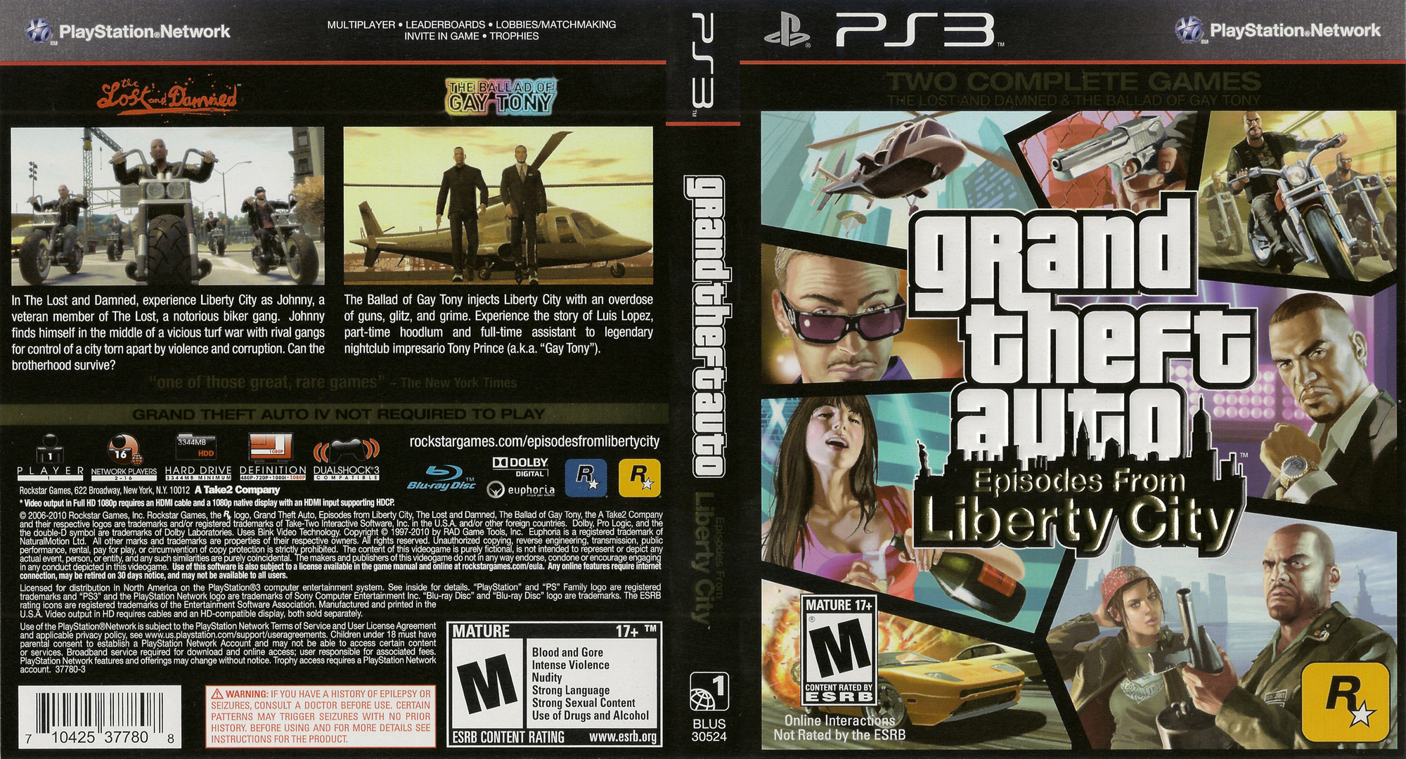 Grand Theft Auto: Episodes from Liberty City PS3 coverfullHQ (BLUS30524)