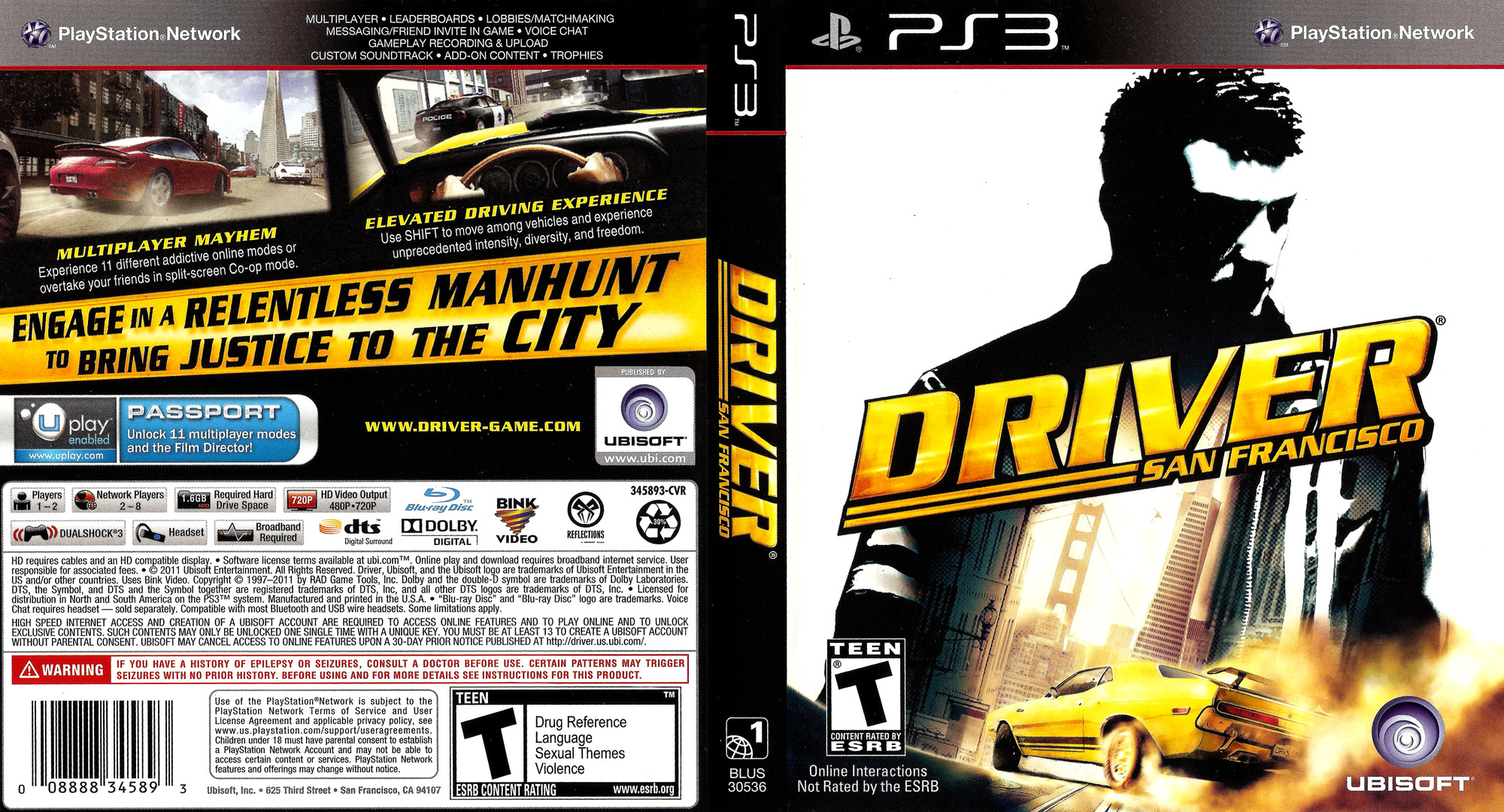 Driver: San Francisco PS3 coverfullHQ (BLUS30536)