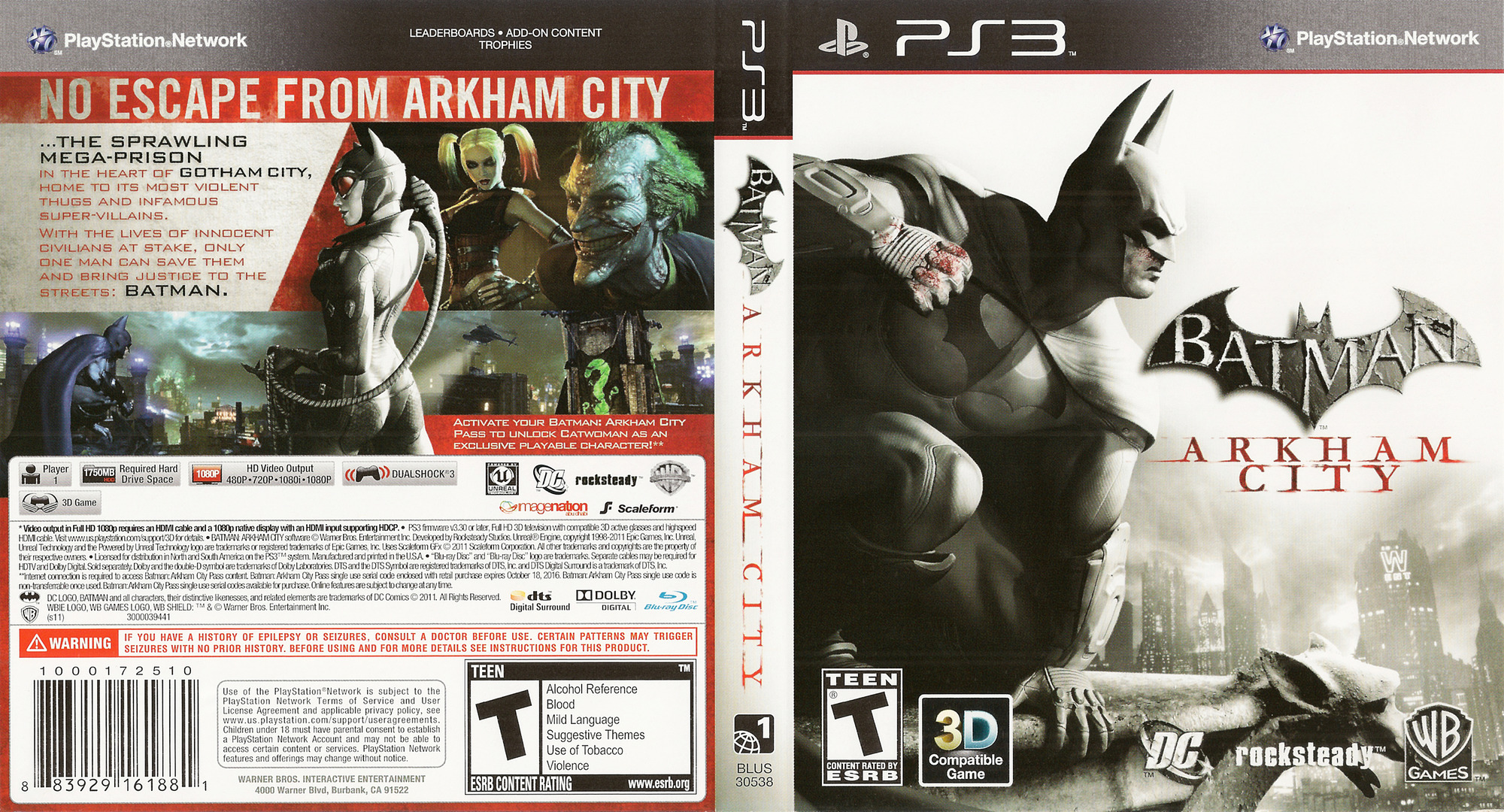 Batman: Arkham City PS3 coverfullHQ (BLUS30538)