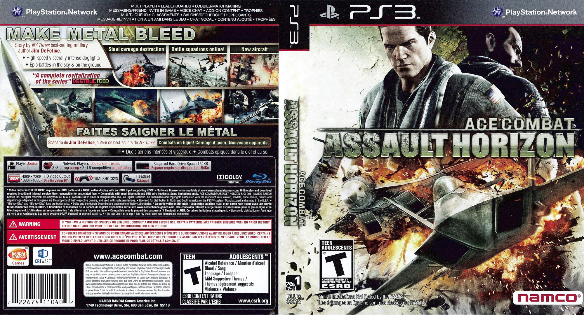 Ace Combat: Assault Horizon PS3 coverfullHQ (BLUS30613)