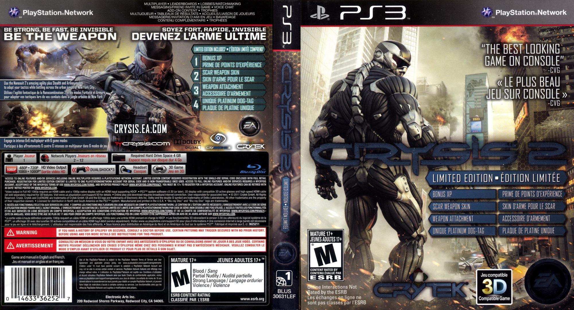 Crysis 2 PS3 coverfullHQ (BLUS30631)