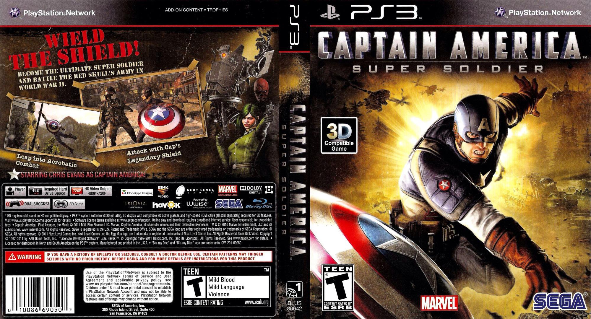 Captain America:Super Soldier PS3 coverfullHQ (BLUS30642)
