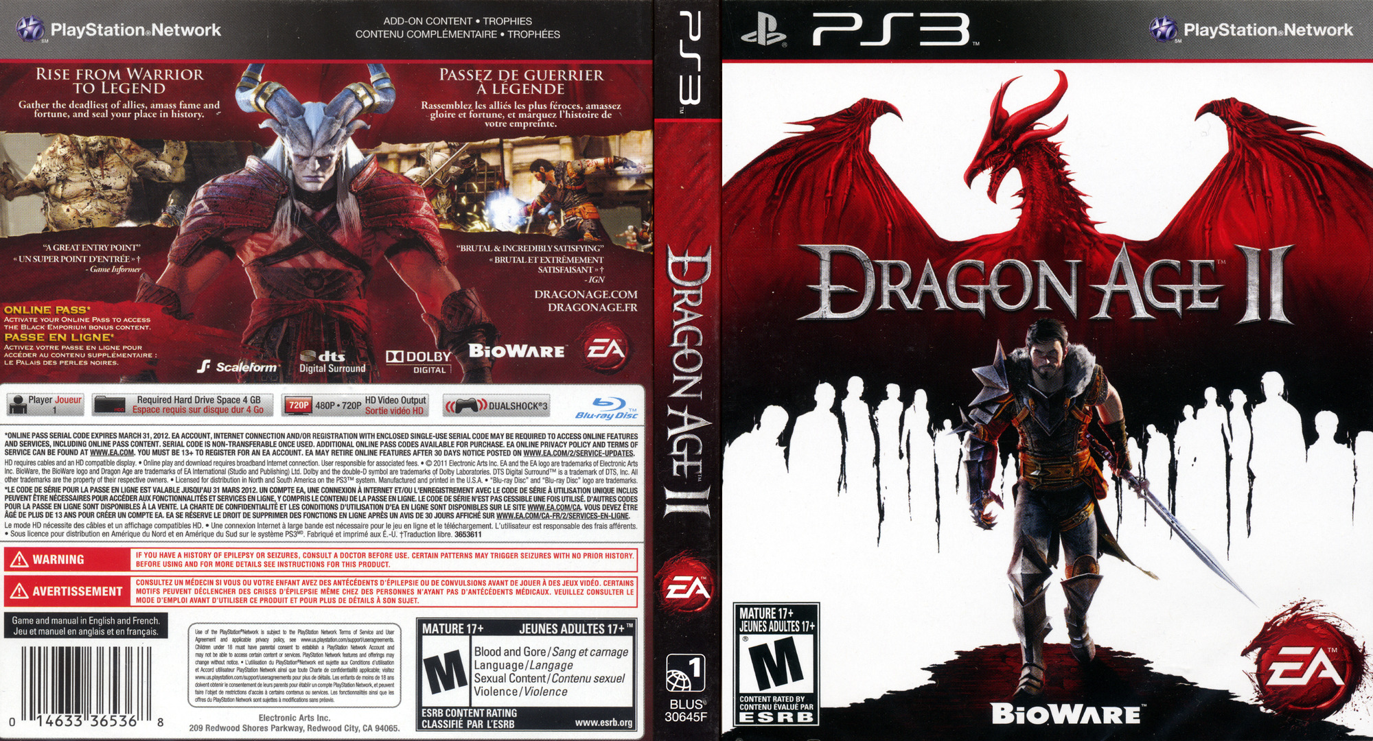 Dragon Age II PS3 coverfullHQ (BLUS30645)