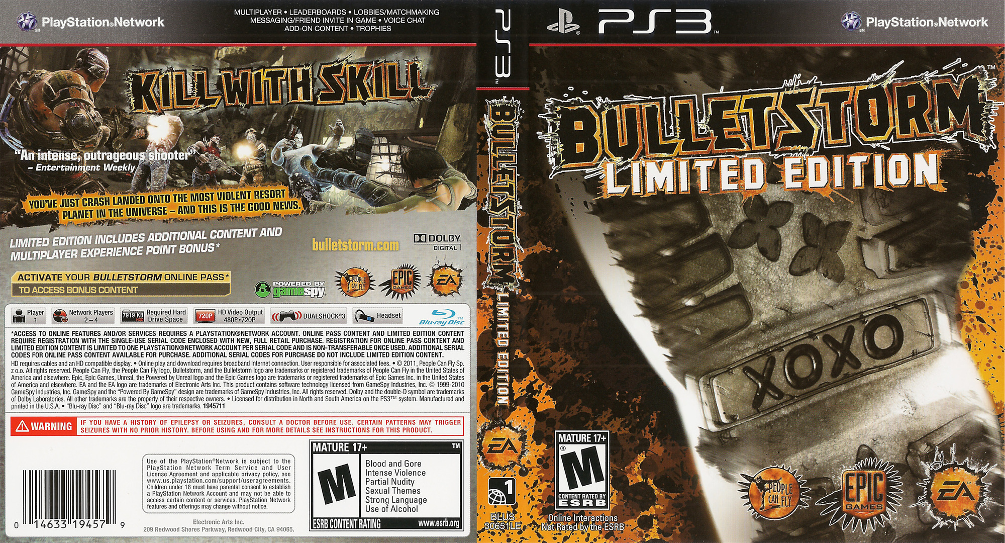 Bulletstorm PS3 coverfullHQ (BLUS30651)