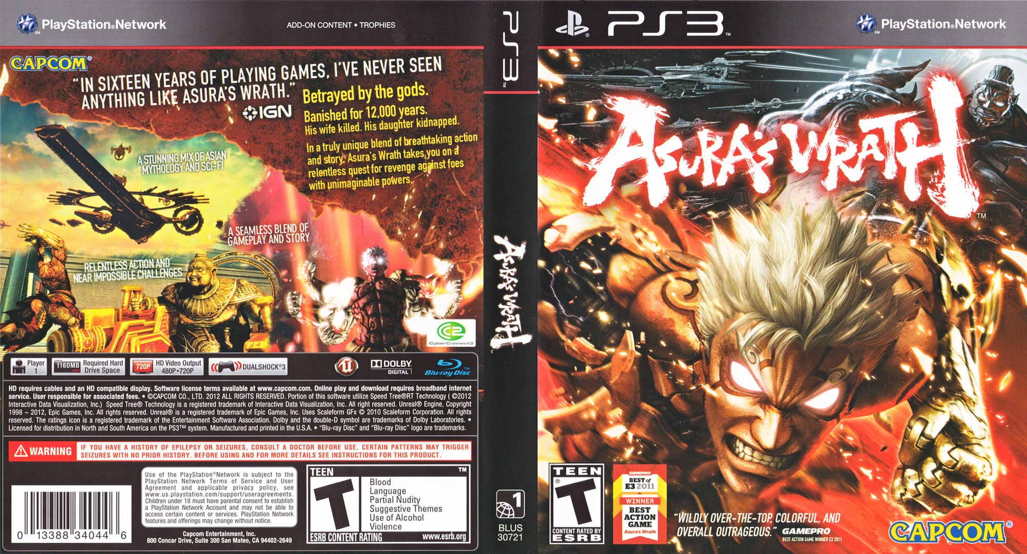 Asura's Wrath PS3 coverfullHQ (BLUS30721)