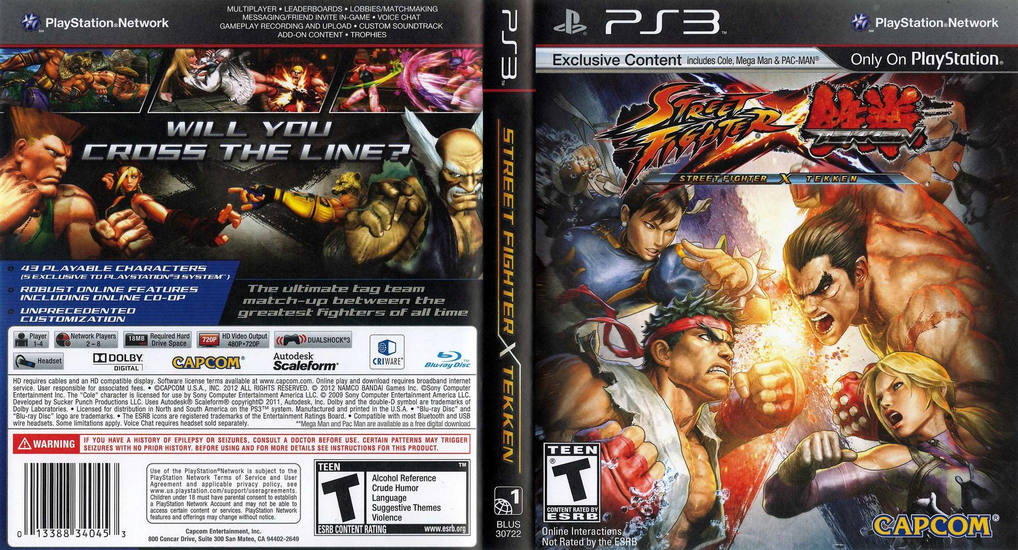Street Fighter X Tekken PS3 coverfullHQ (BLUS30722)