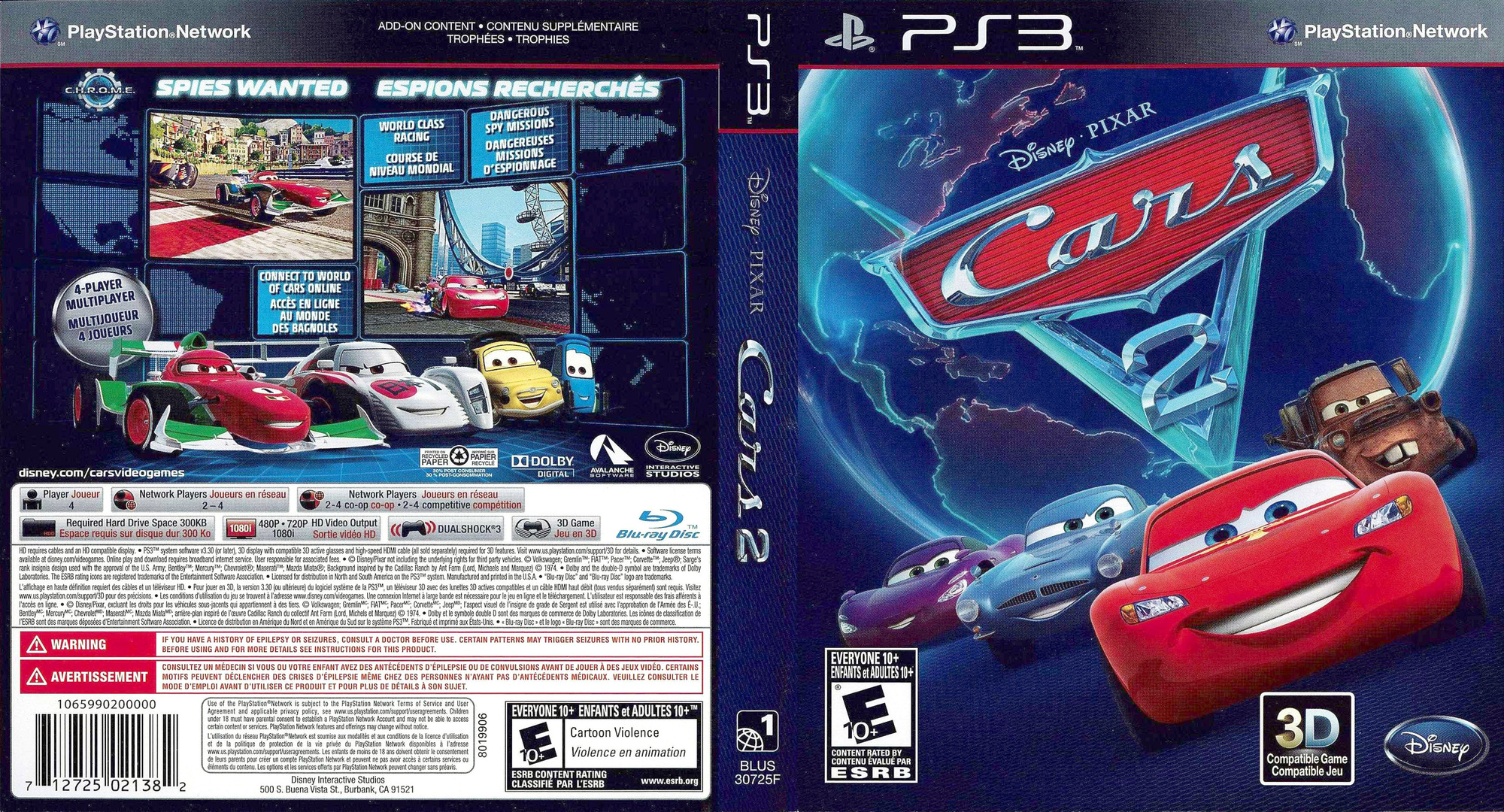 Cars 2: The Video Game PS3 coverfullHQ (BLUS30725)