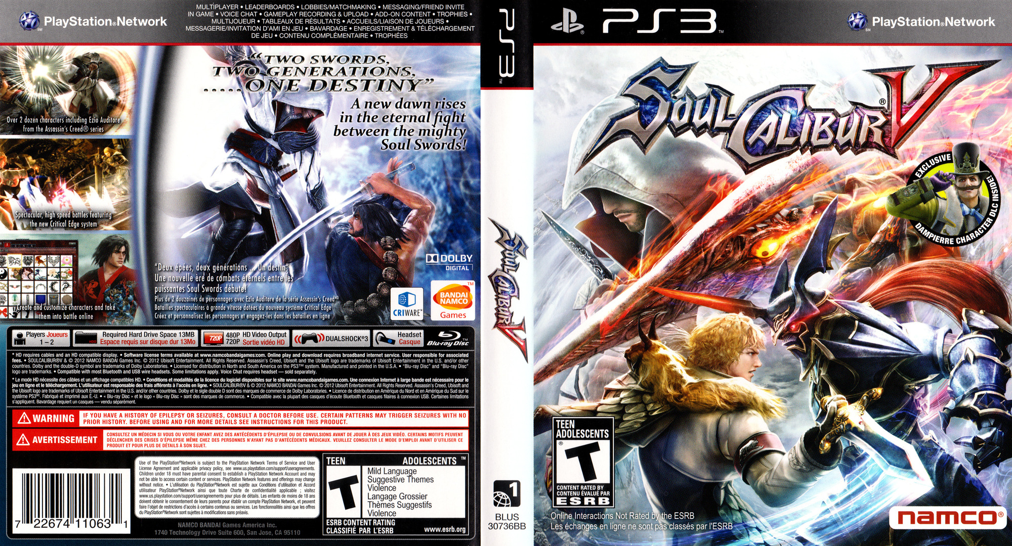 SoulCalibur V PS3 coverfullHQ (BLUS30736)