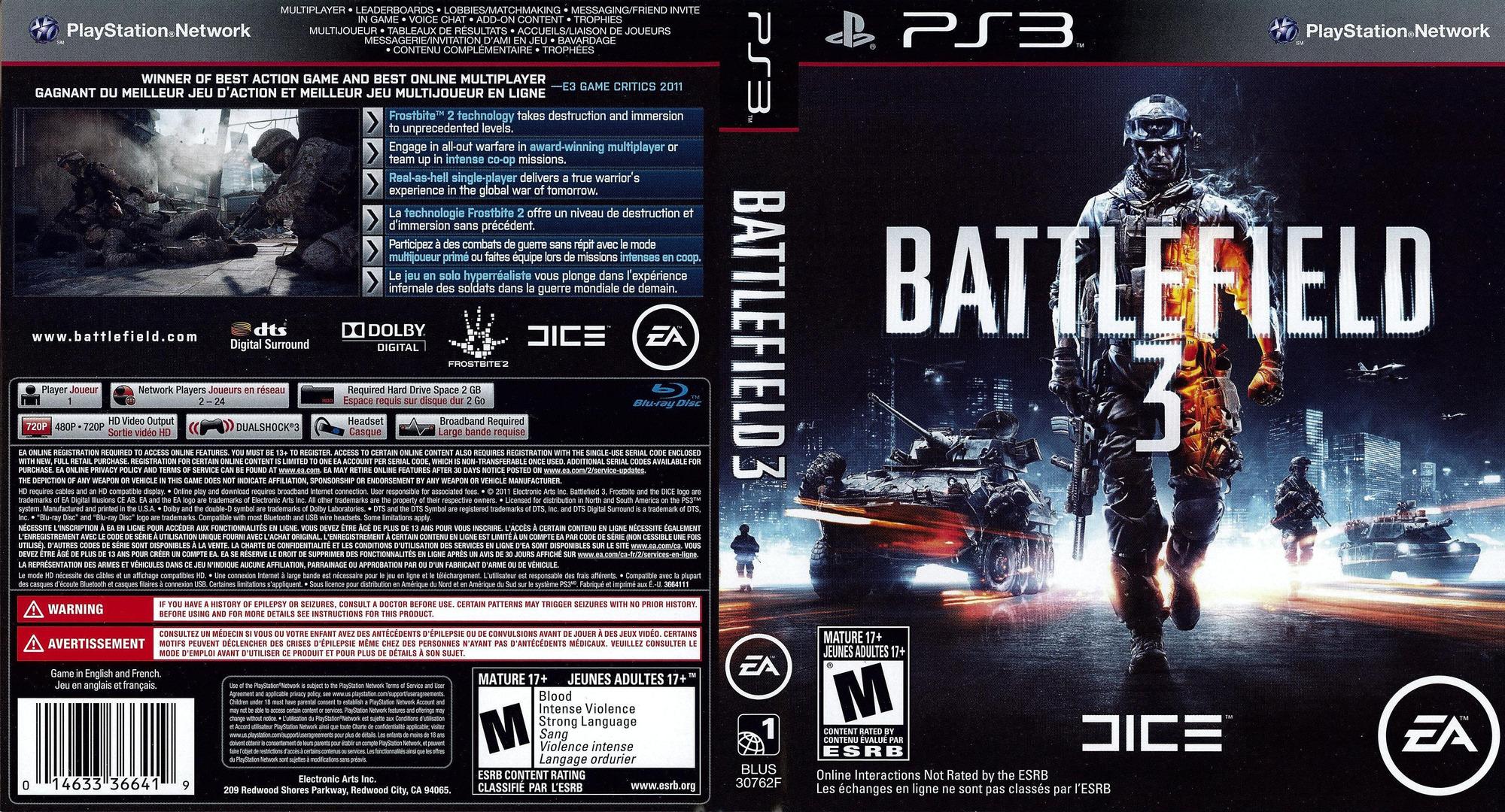 BLUS30762 - Battlefield 3