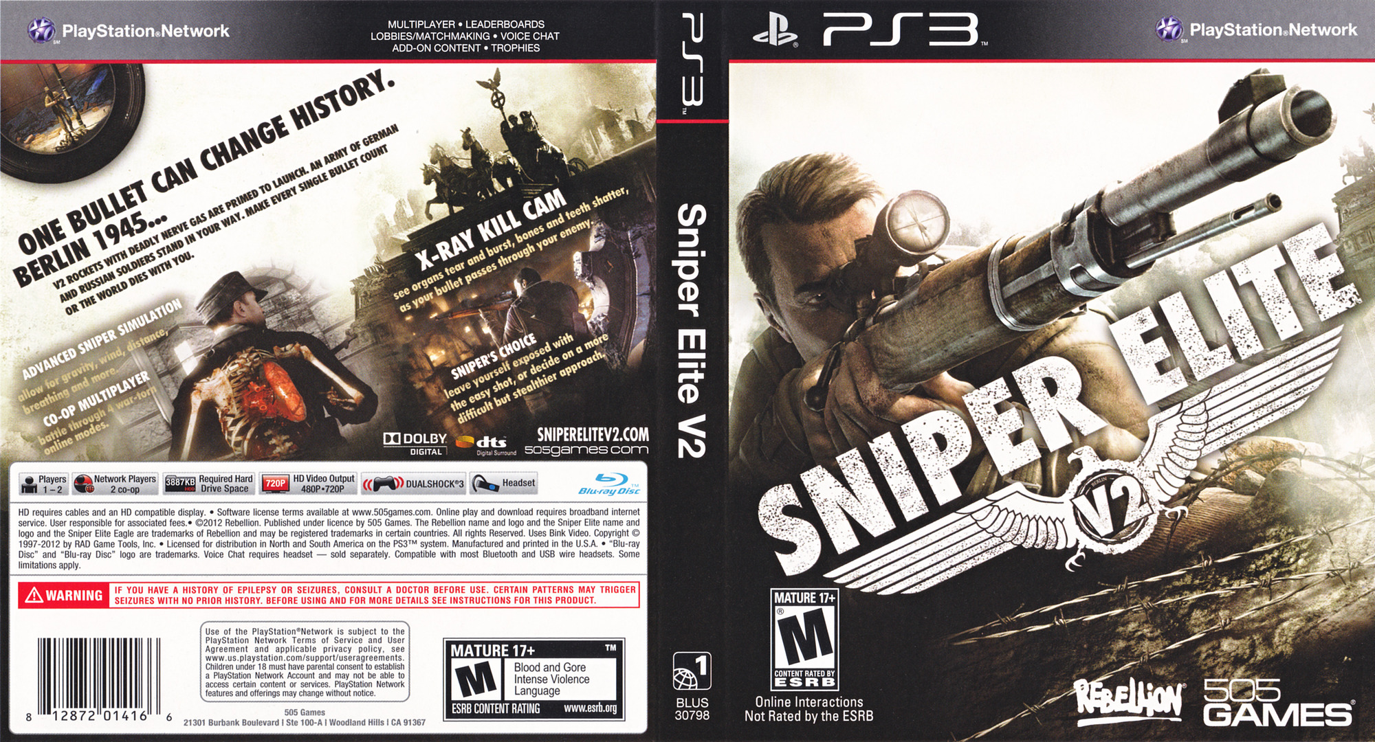 Sniper Elite V2 PS3 coverfullHQ (BLUS30798)