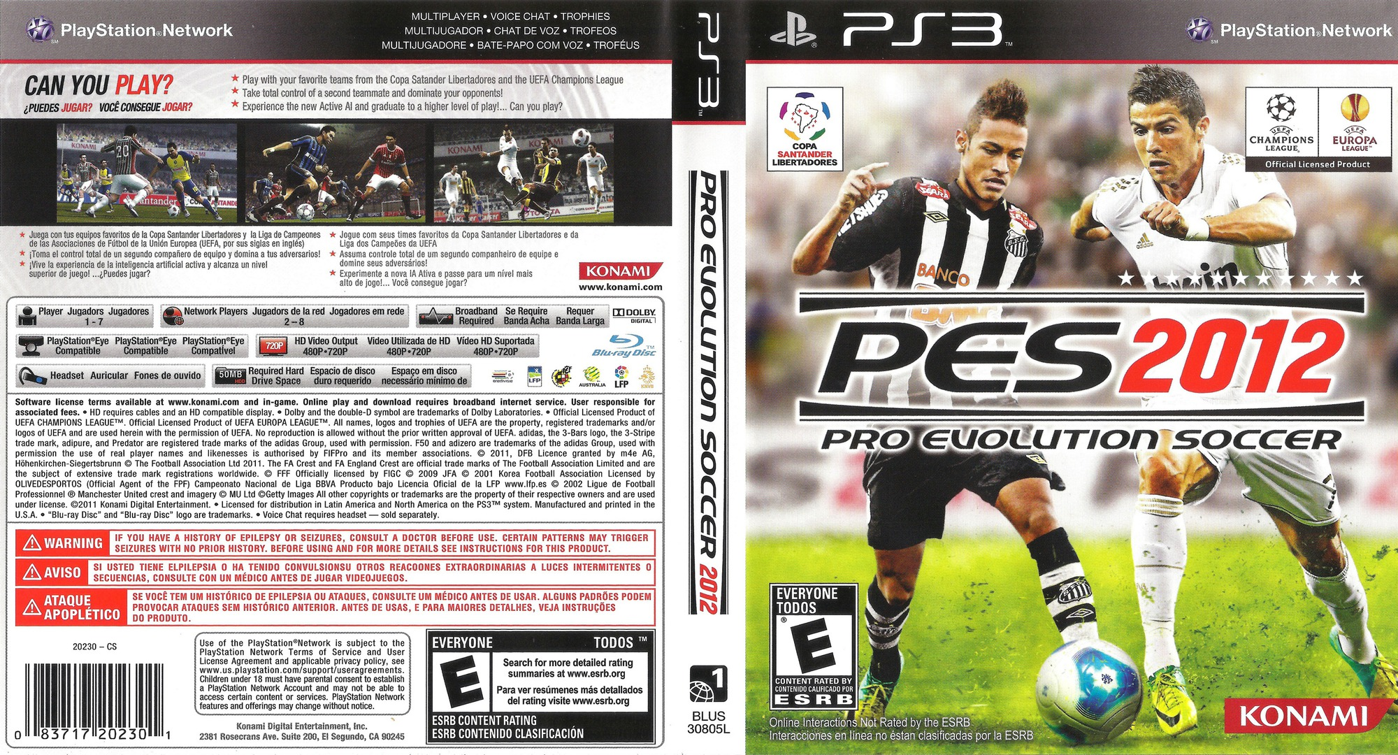 Pro Evolution Soccer 2012 PS3 coverfullHQ (BLUS30805)