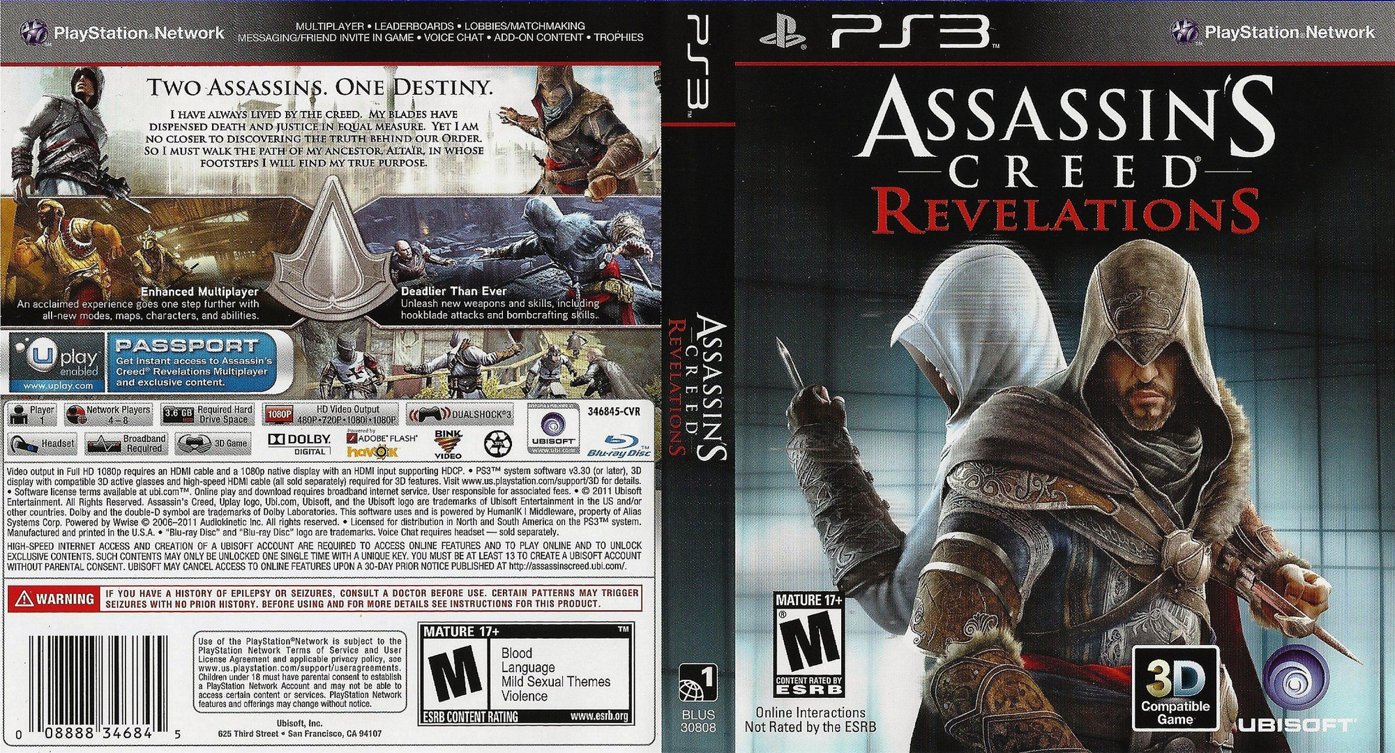 Assassin's Creed: Revelations PS3 coverfullHQ (BLUS30808)