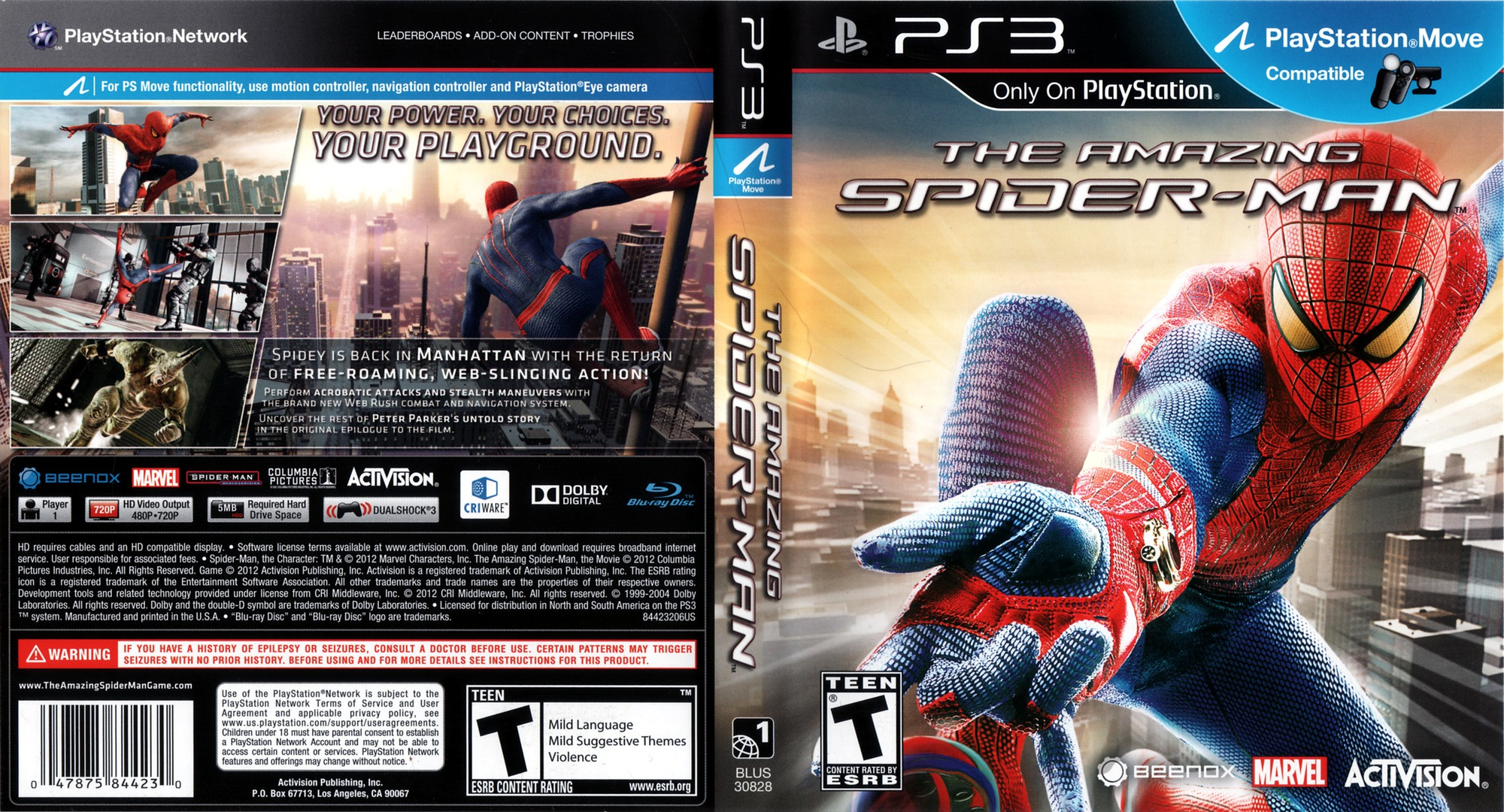 The Amazing Spider-Man PS3 coverfullHQ (BLUS30828)
