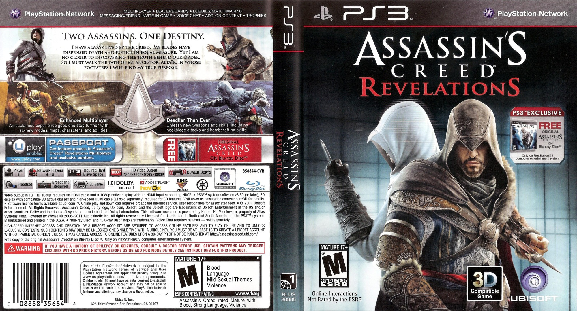 Assassin's Creed: Revelations PS3 coverfullHQ (BLUS30905)