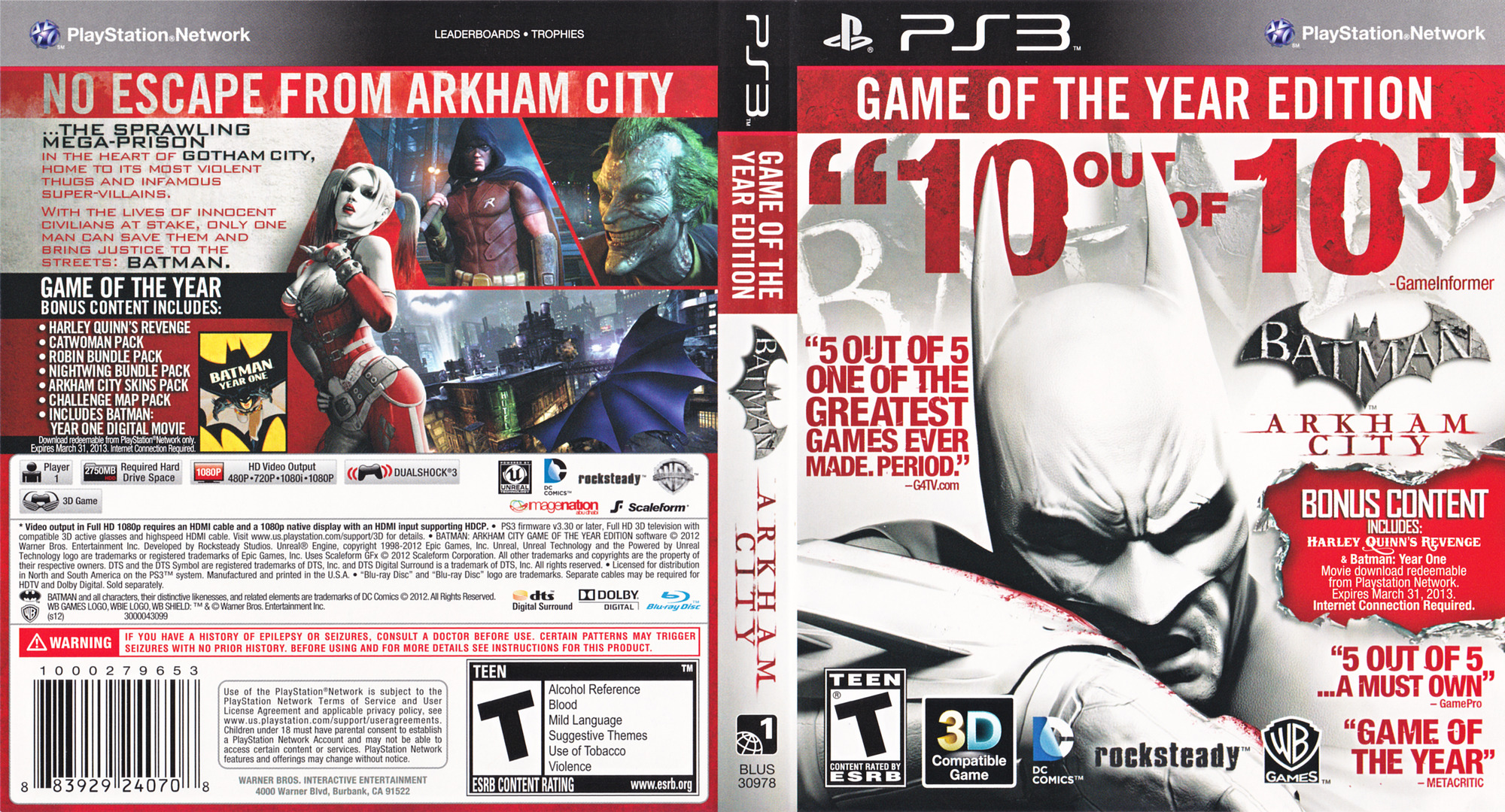 Batman: Arkham City (Game of the Year Edition) Array coverfullHQ (BLUS30978)