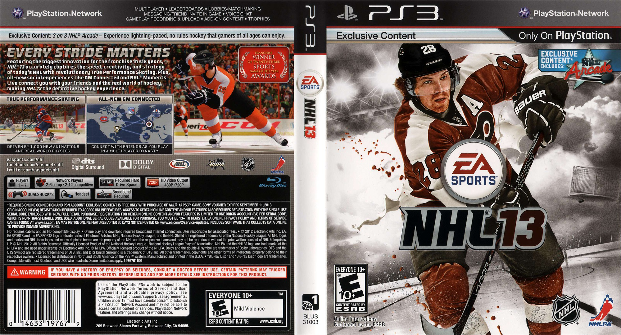 NHL 13 PS3 coverfullHQ (BLUS31003)