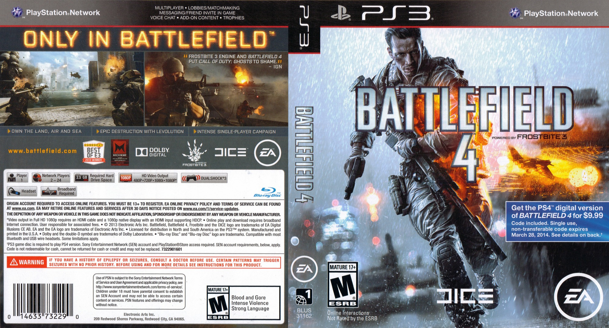 Battlefield 4 PS3 coverfullHQ (BLUS31162)