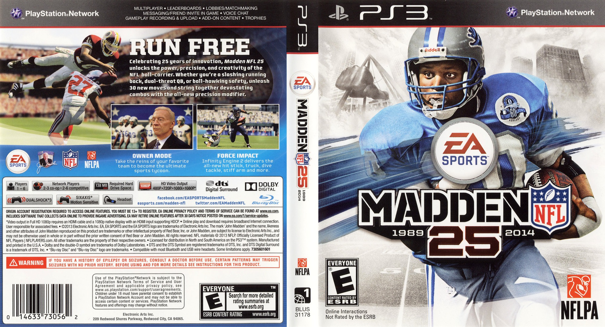 Madden NFL 25 PS3 coverfullHQ (BLUS31178)